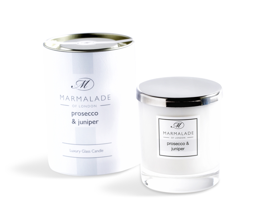 00174 Prosecco and juniper glass candle