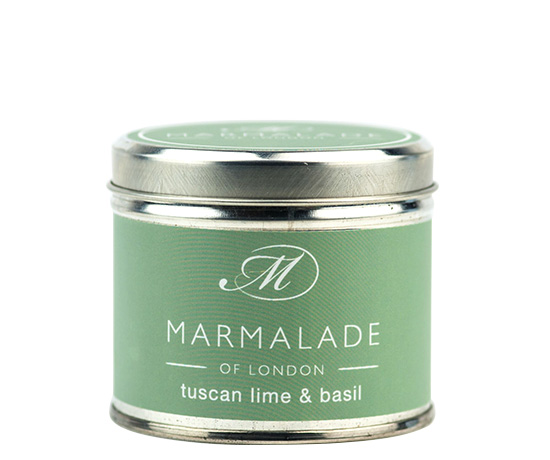 00173 Tuscan Lime & Basil tin candle