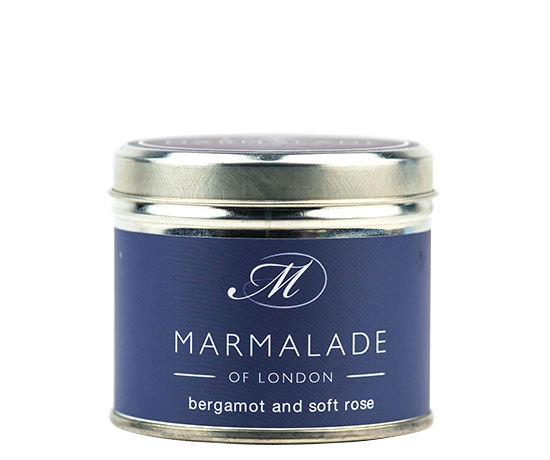 00173 Bergamot & Soft Rose tin candle