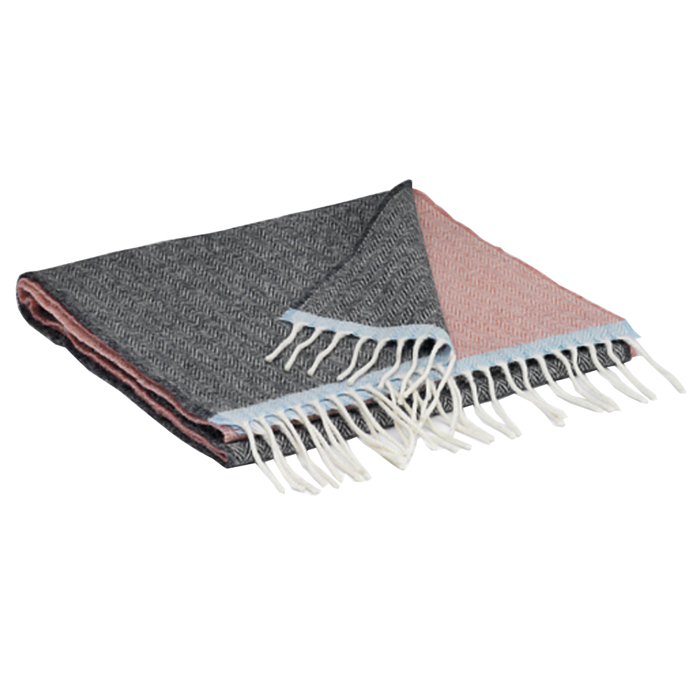 00322 McNutt scarf in box pink/grey