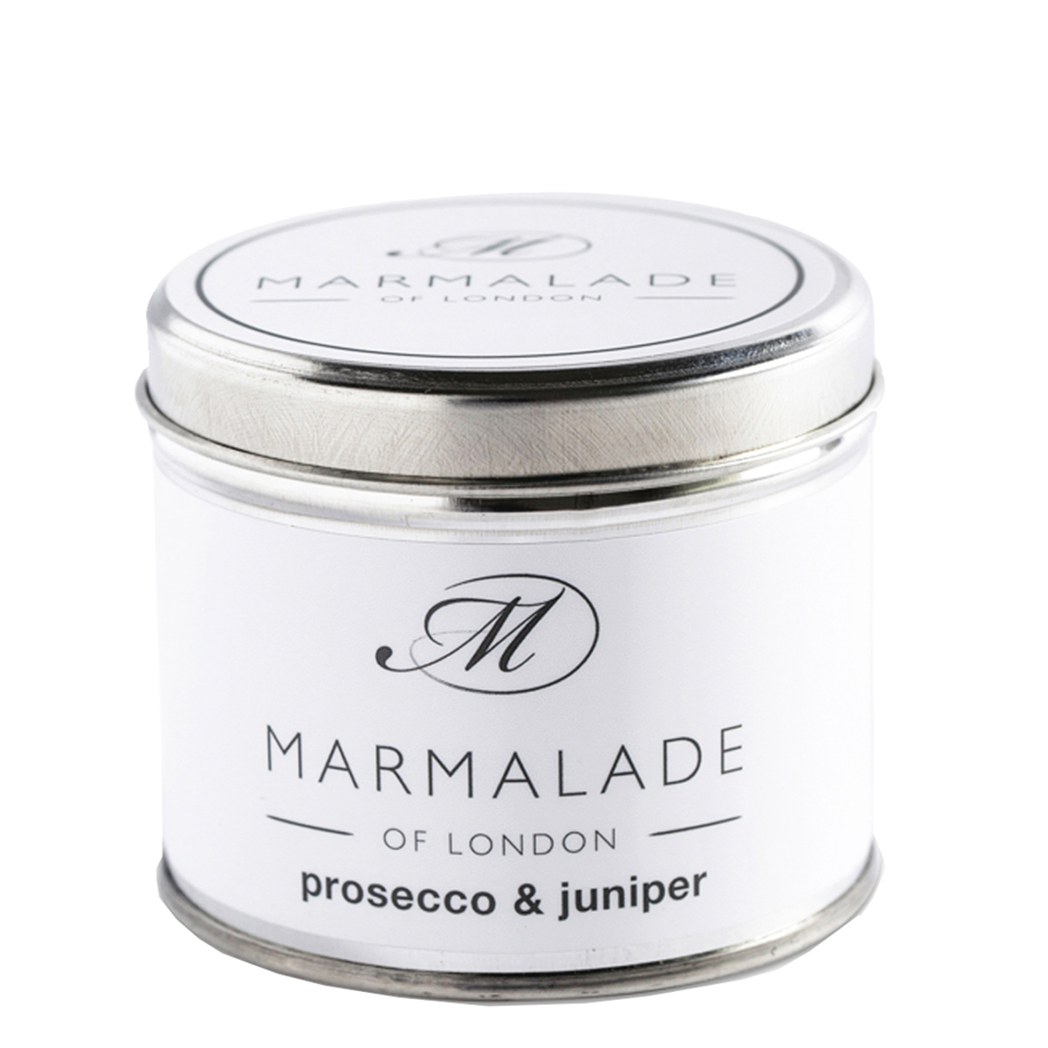 00173 Prosecco & Juniper tin candle