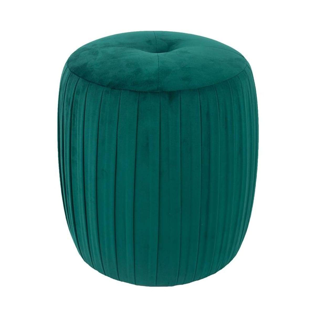 1812 Green velvet pleated footstool