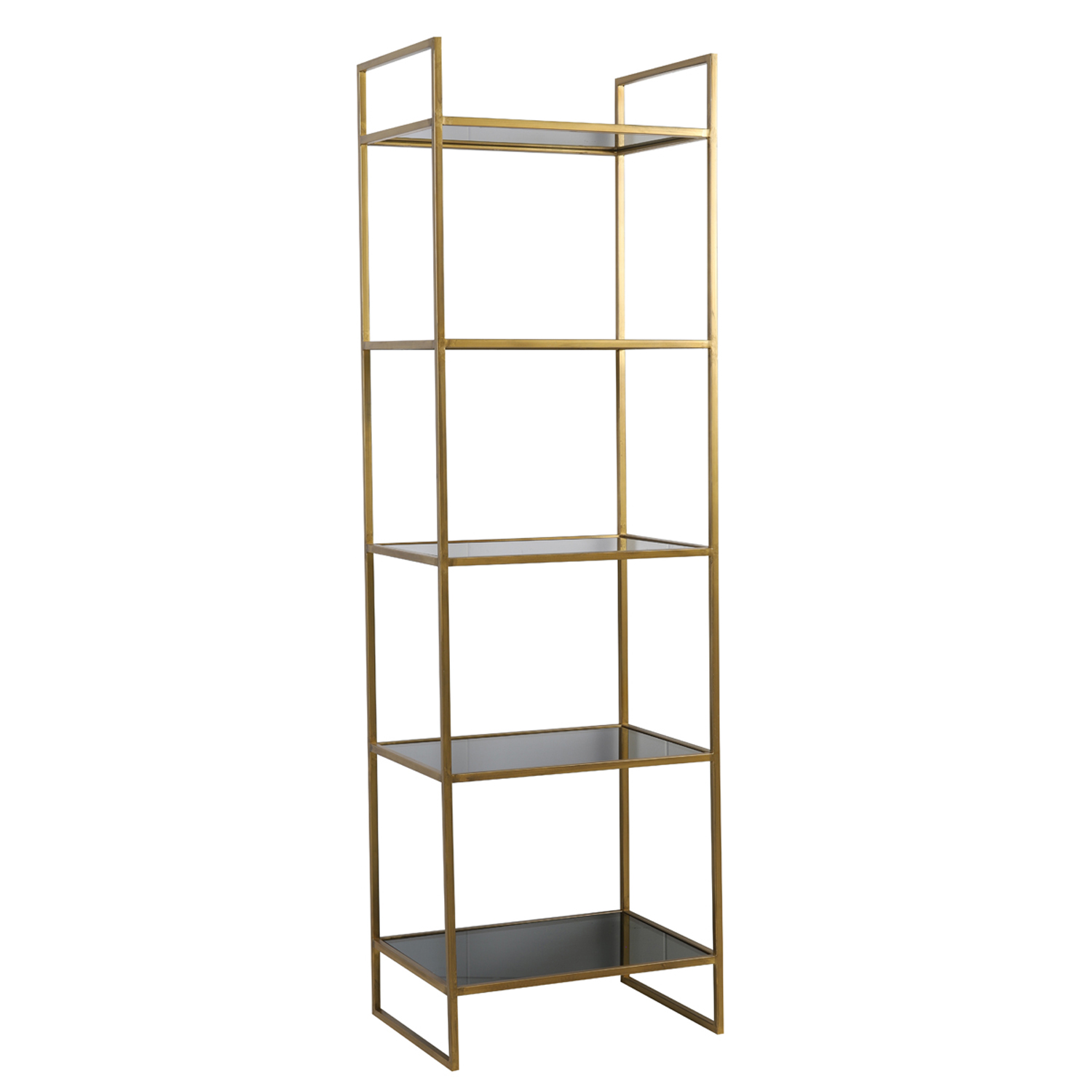 1376 Black/gold tall shelves