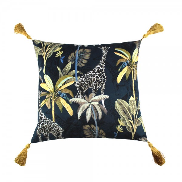 0009 tropical giraffe print cushion