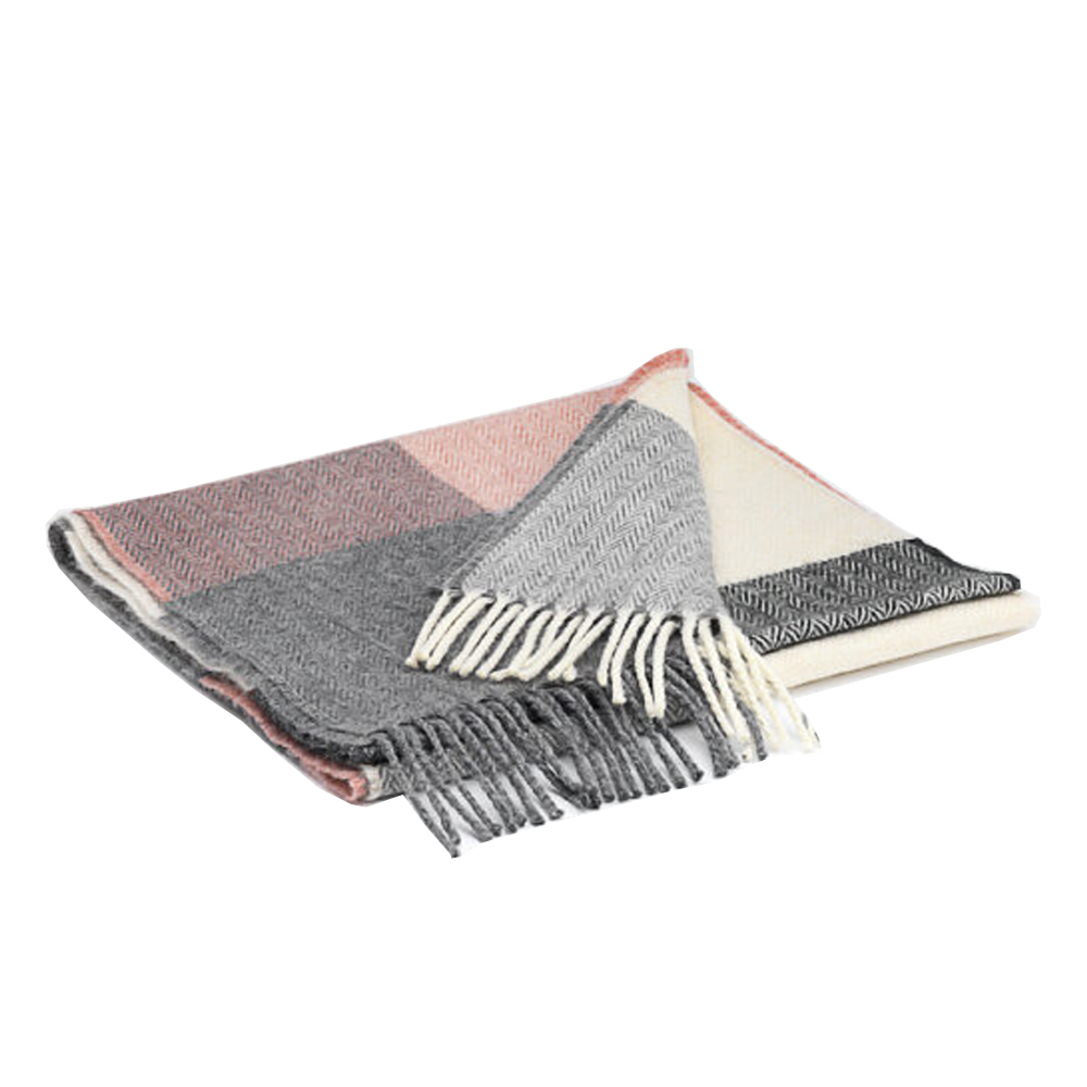 00322 McNutt scarf in box rose check