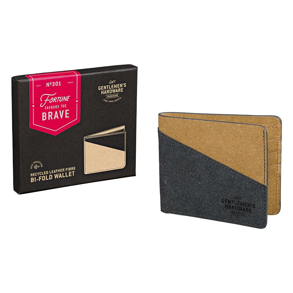 01046 GH recycled leather fibre wallet