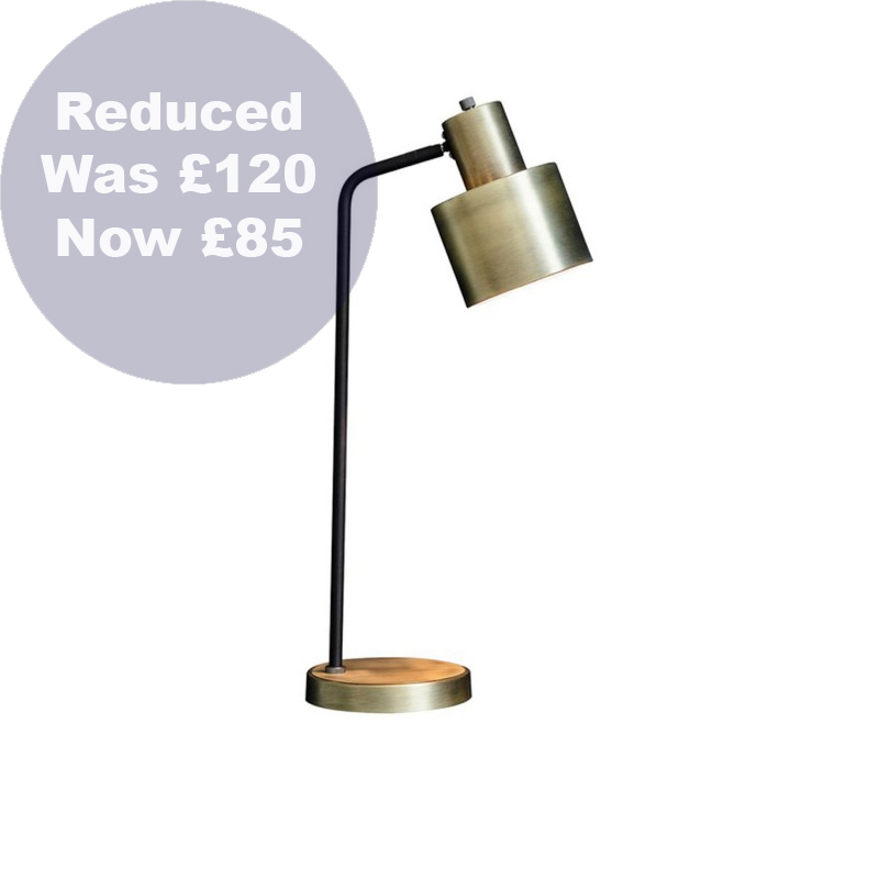 0016 Sevile Brushed Brass table lamp