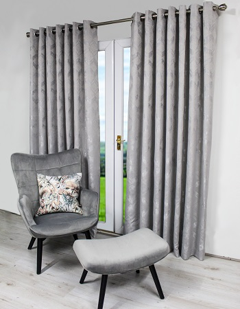 1328 Silver curtains 90x90