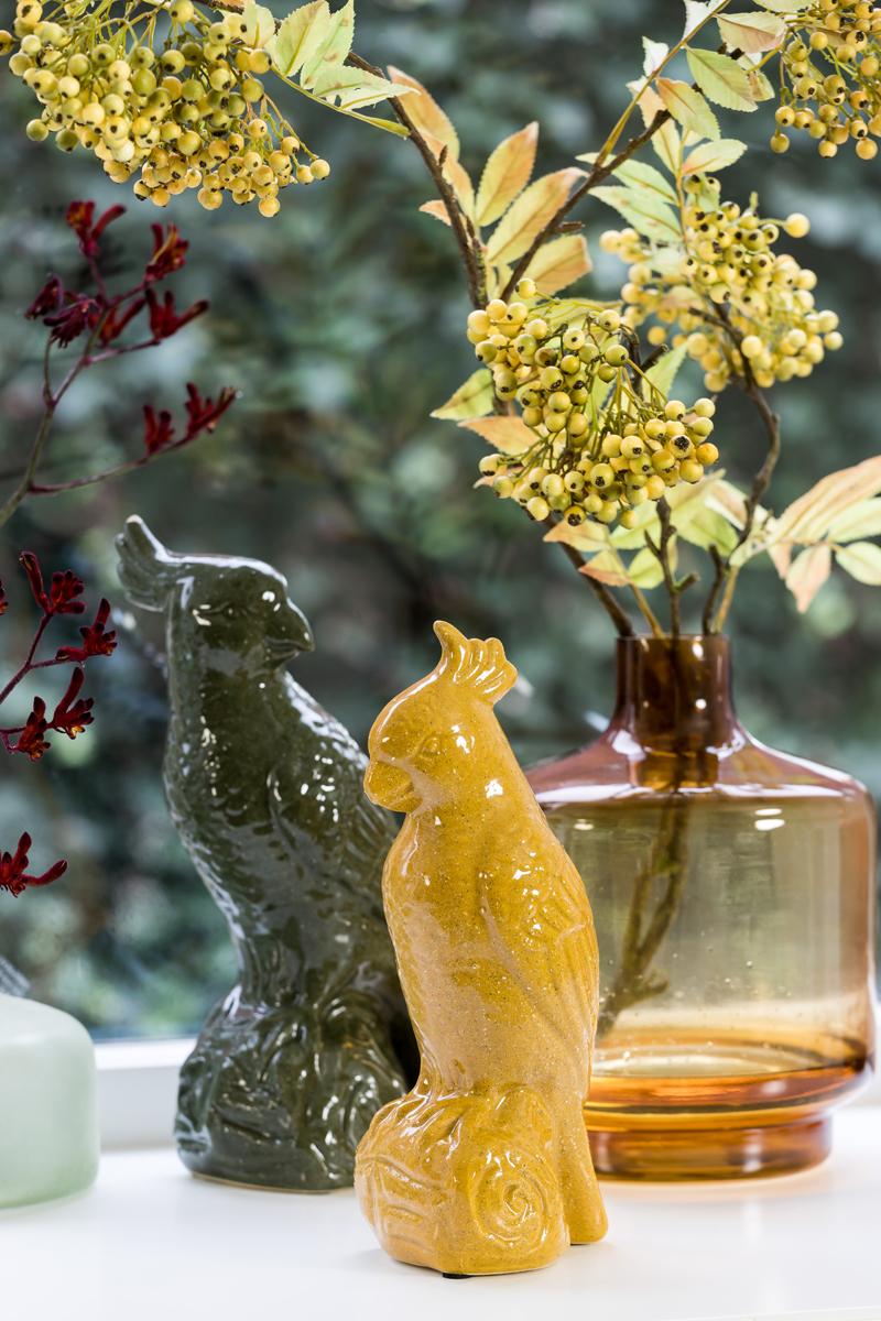 1362 Smoked ochre vase small