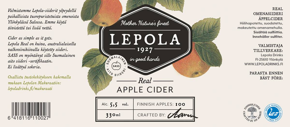 Lepola Apple Cider 5,5% 0,33pll