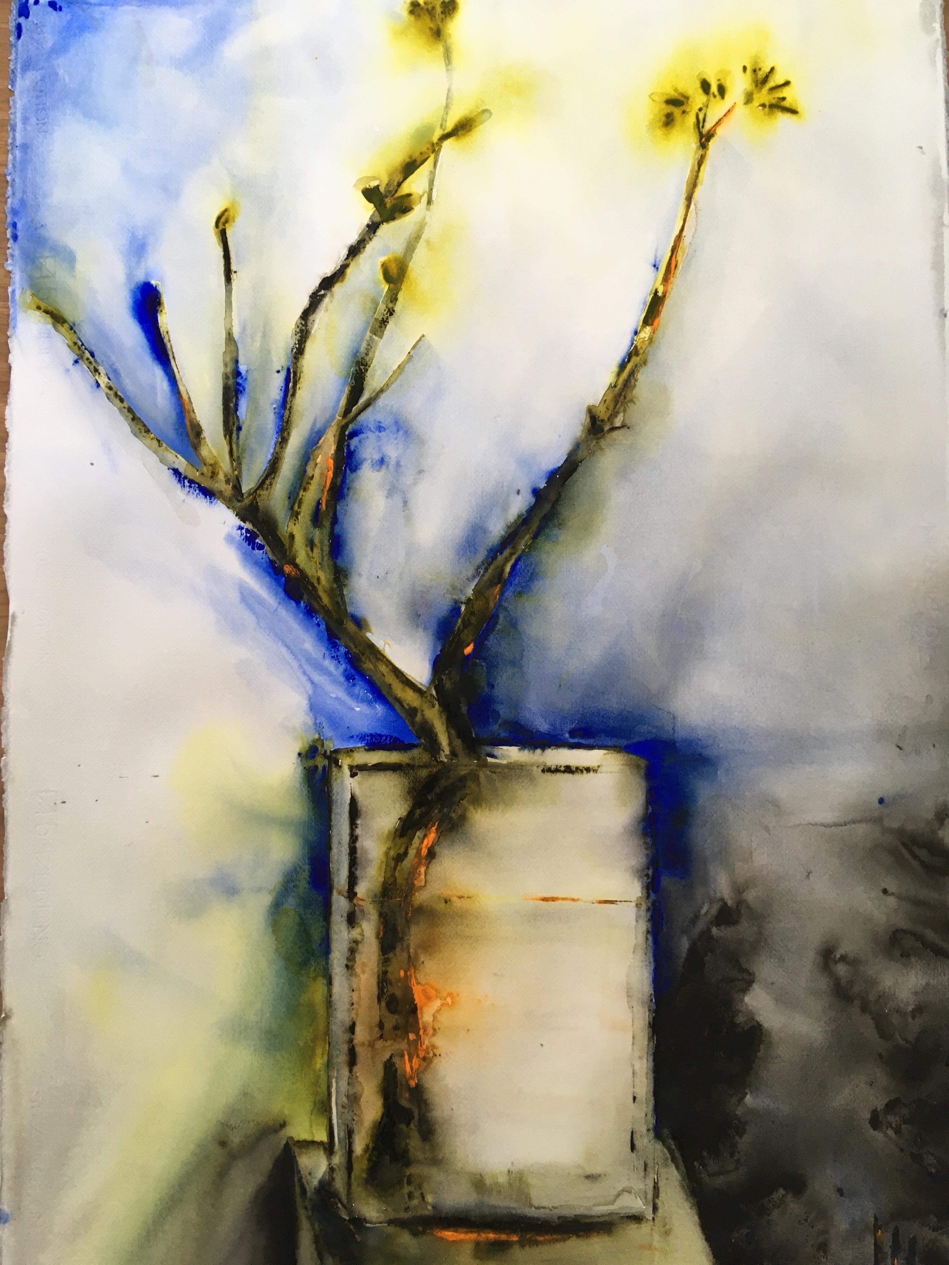 Lena Hoel - Upplyst, akvarell