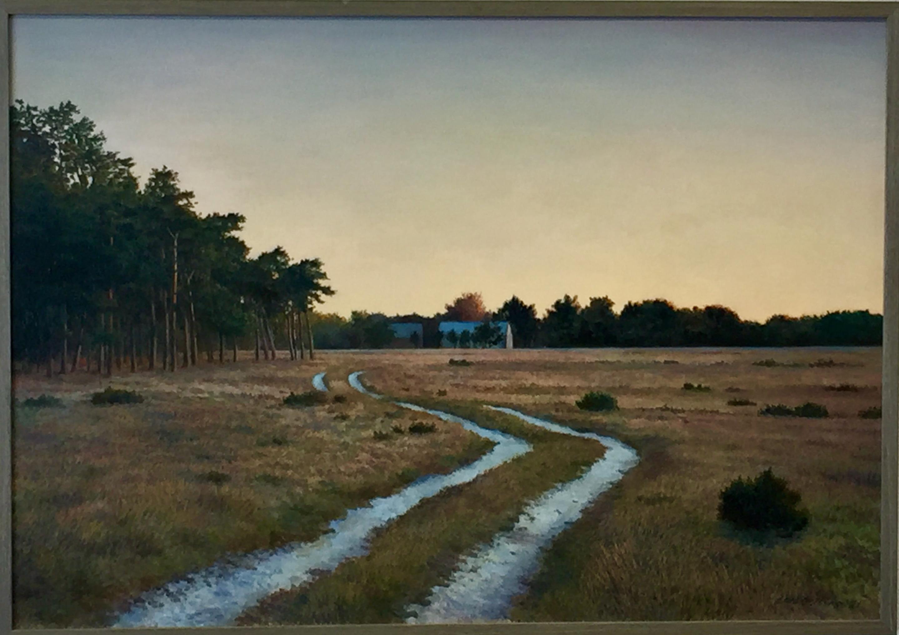 Lars Östling - Skymning över heden, oljemålning