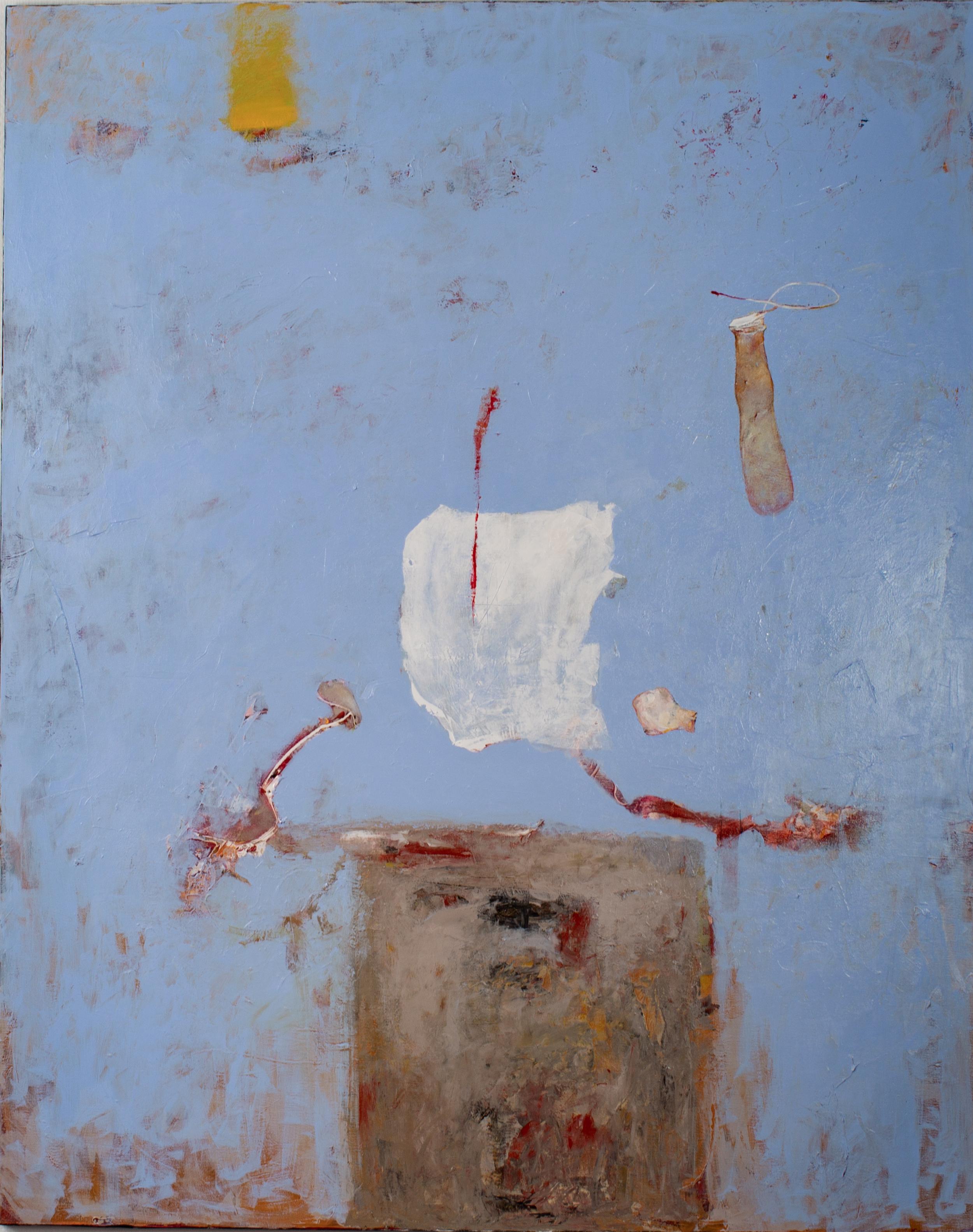 Oleg Bondarenko - Tower and blue skies, oil painting