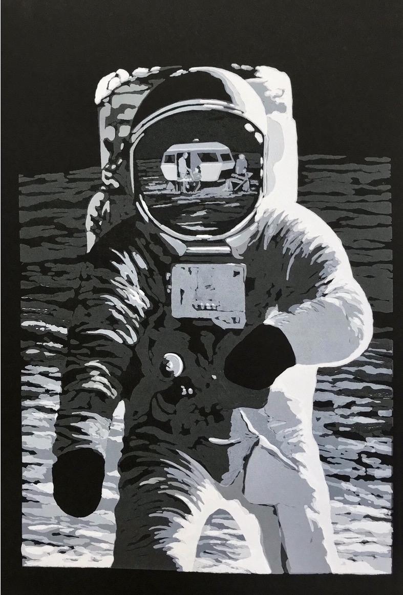 Joakim Allgulander - Rocket man, screen print