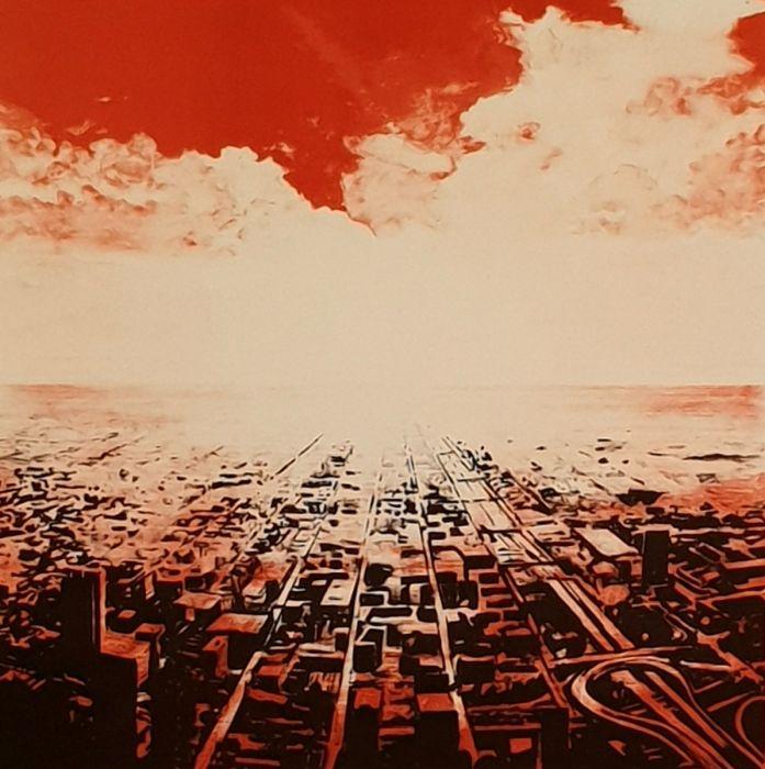 Joakim Allgulander - Red scape, lithography