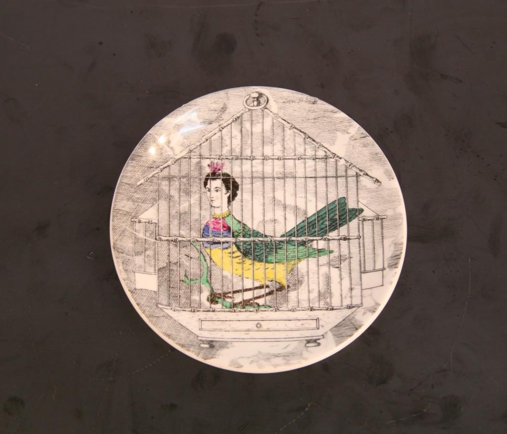 8 coaster Le Arpie by Piero Fornasetti