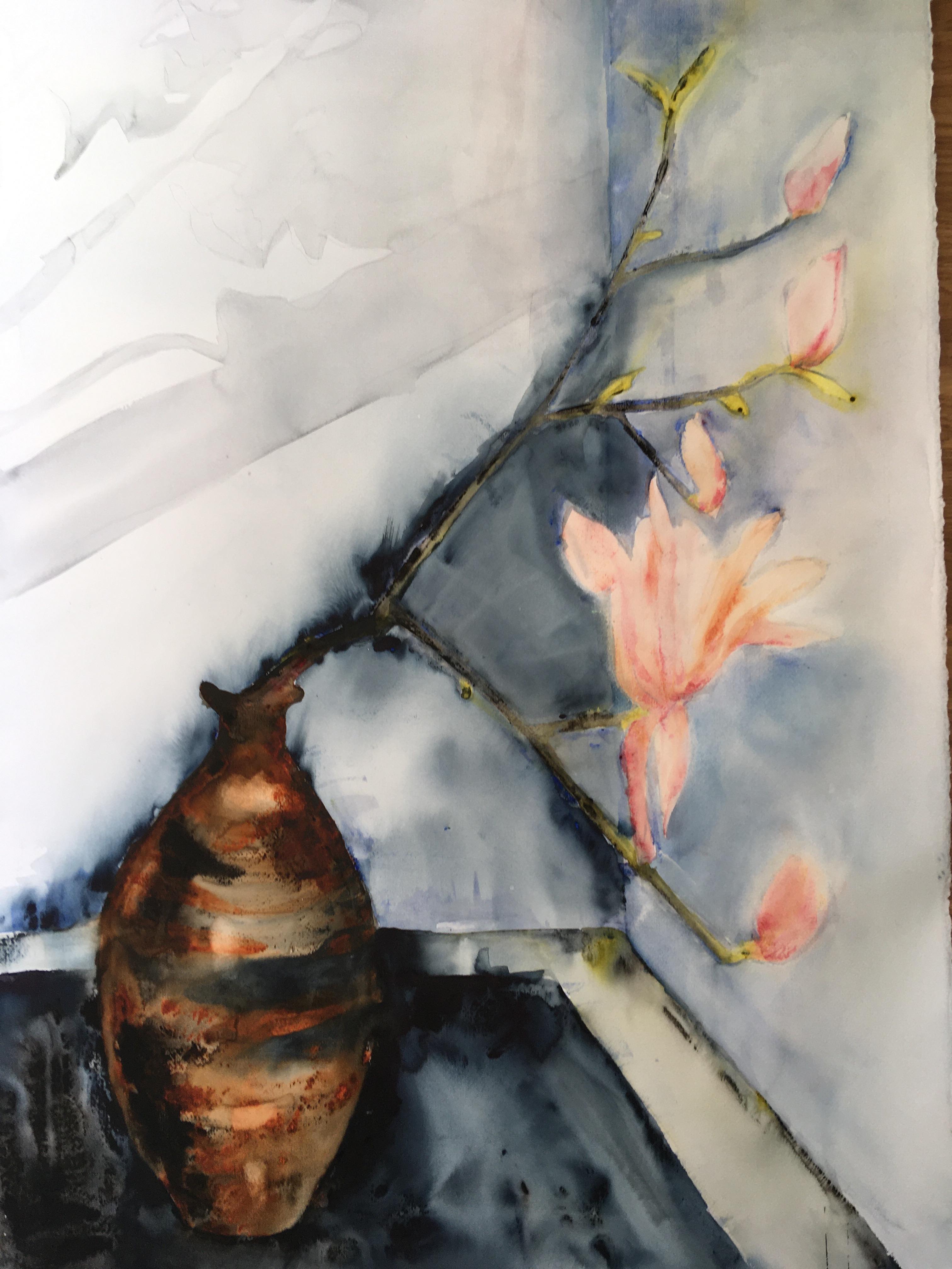 Lena Hoel - Jordnära, akvarell