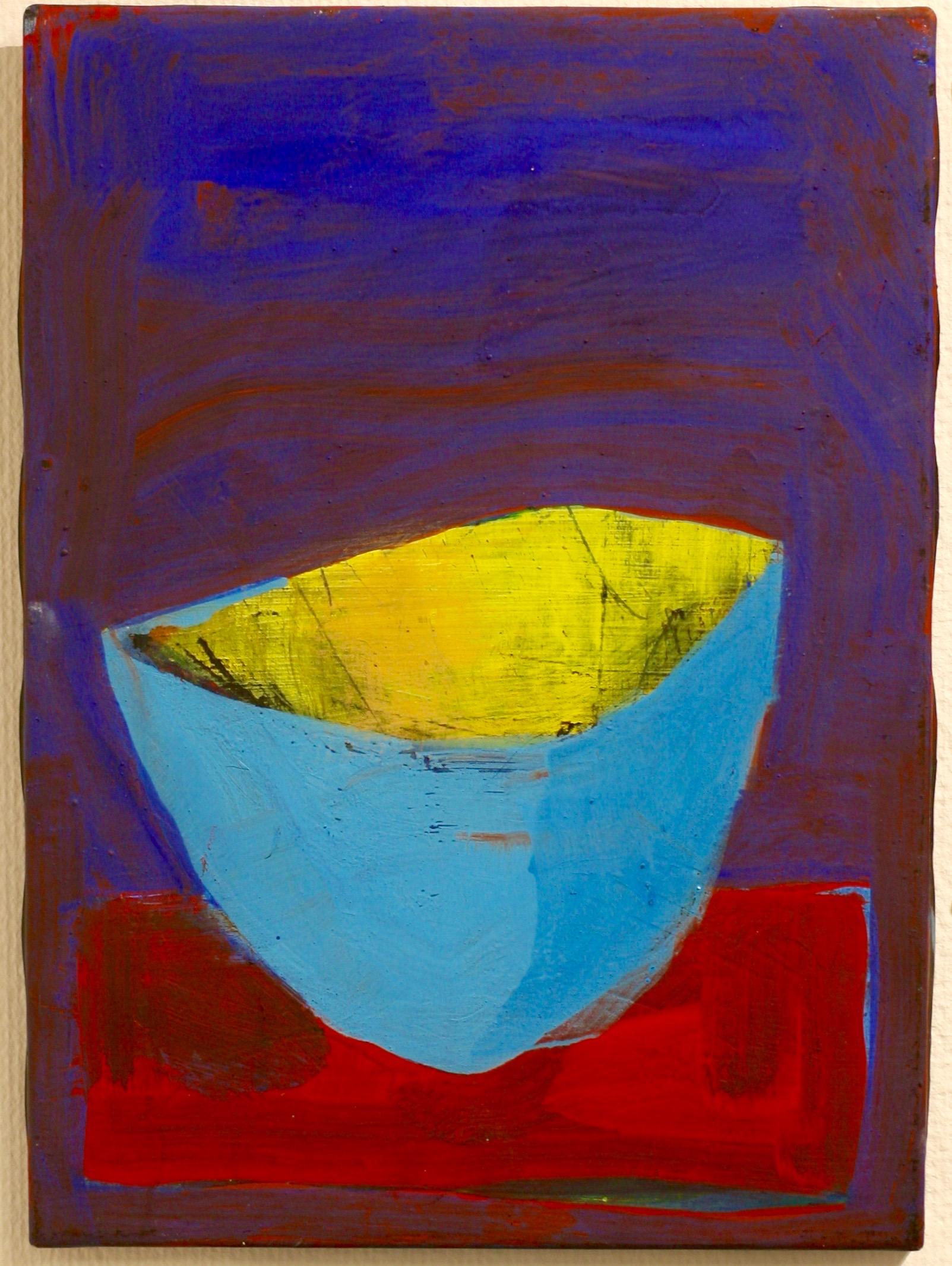 Inga Björstedt - Against the blue  (Mot det blå), oil tempera painting