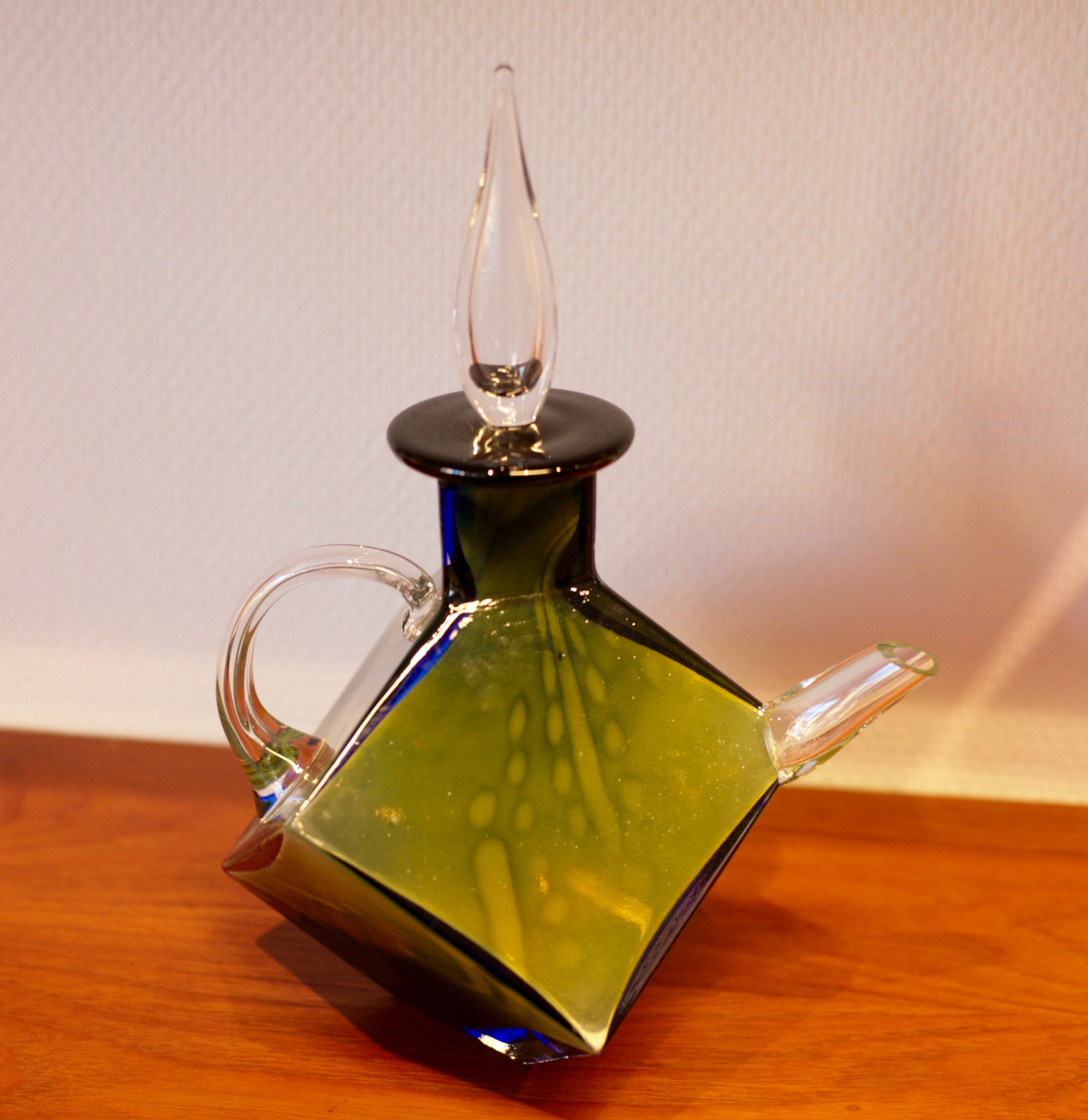 Glass teapot, graal technique, by Rolf Sinnemark