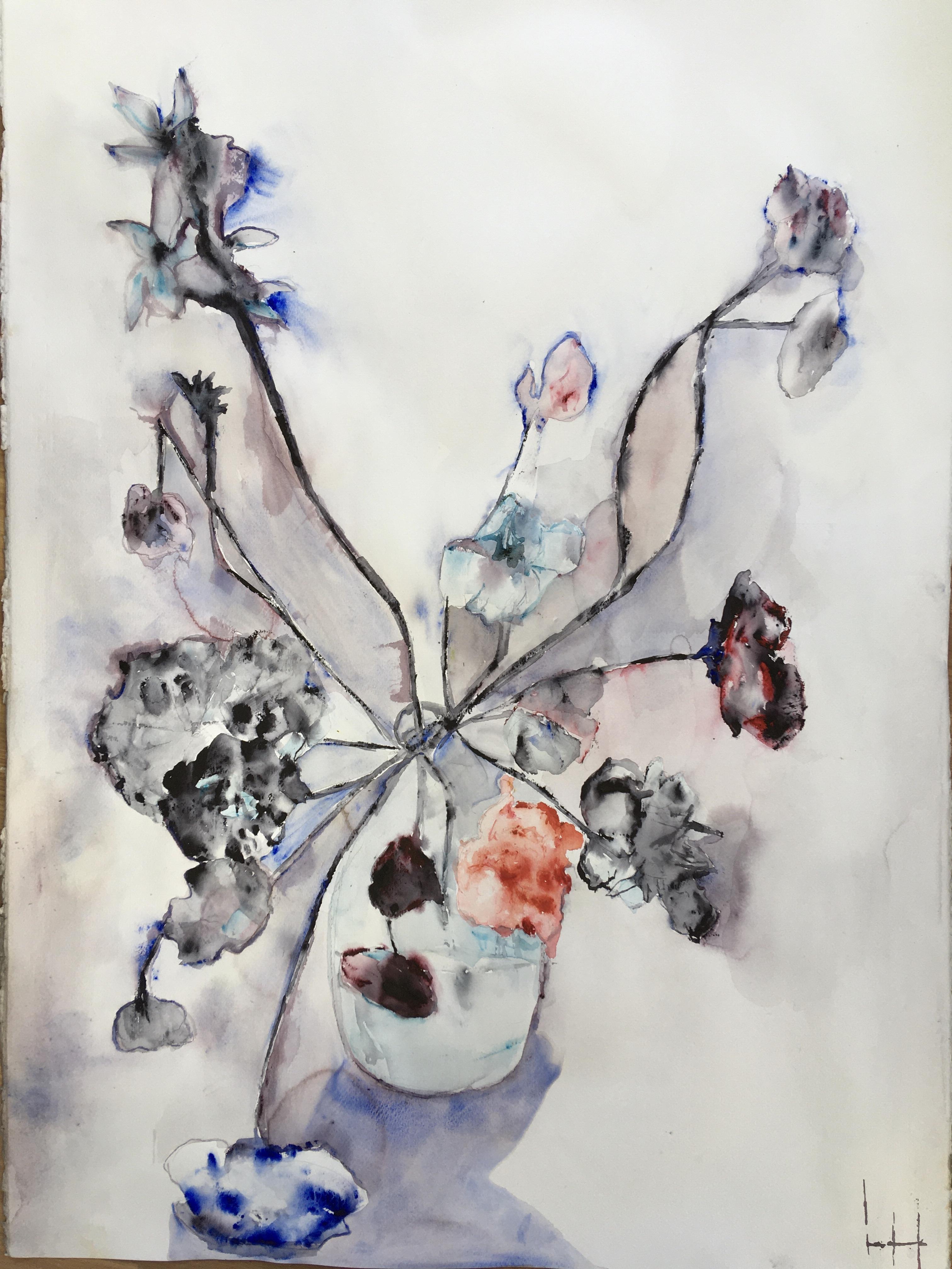 Lena Hoel - Förfall, akvarell