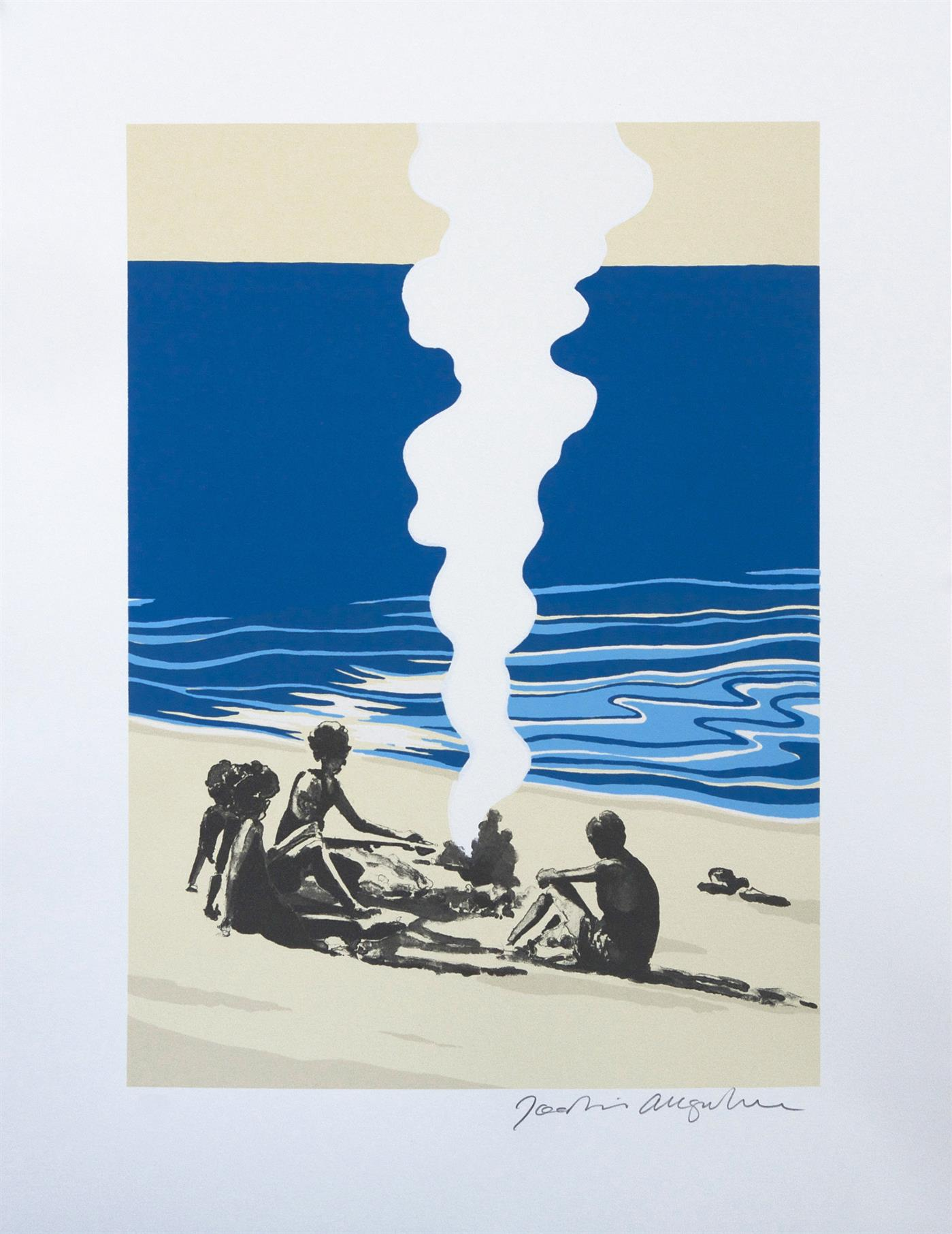 Joakim Allgulander - Stranded, colour lithograph