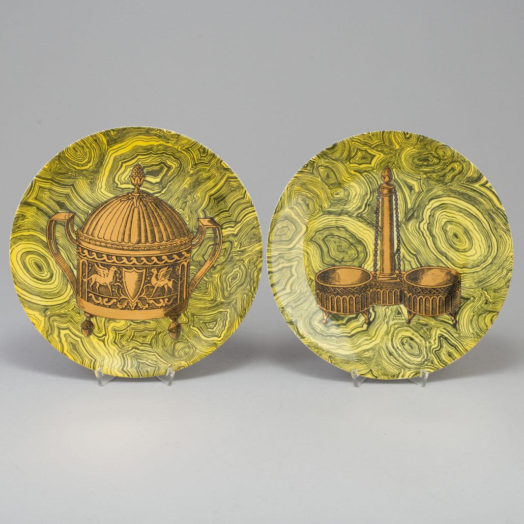 6 dinner plates Stoviglie by Piero Fornasetti