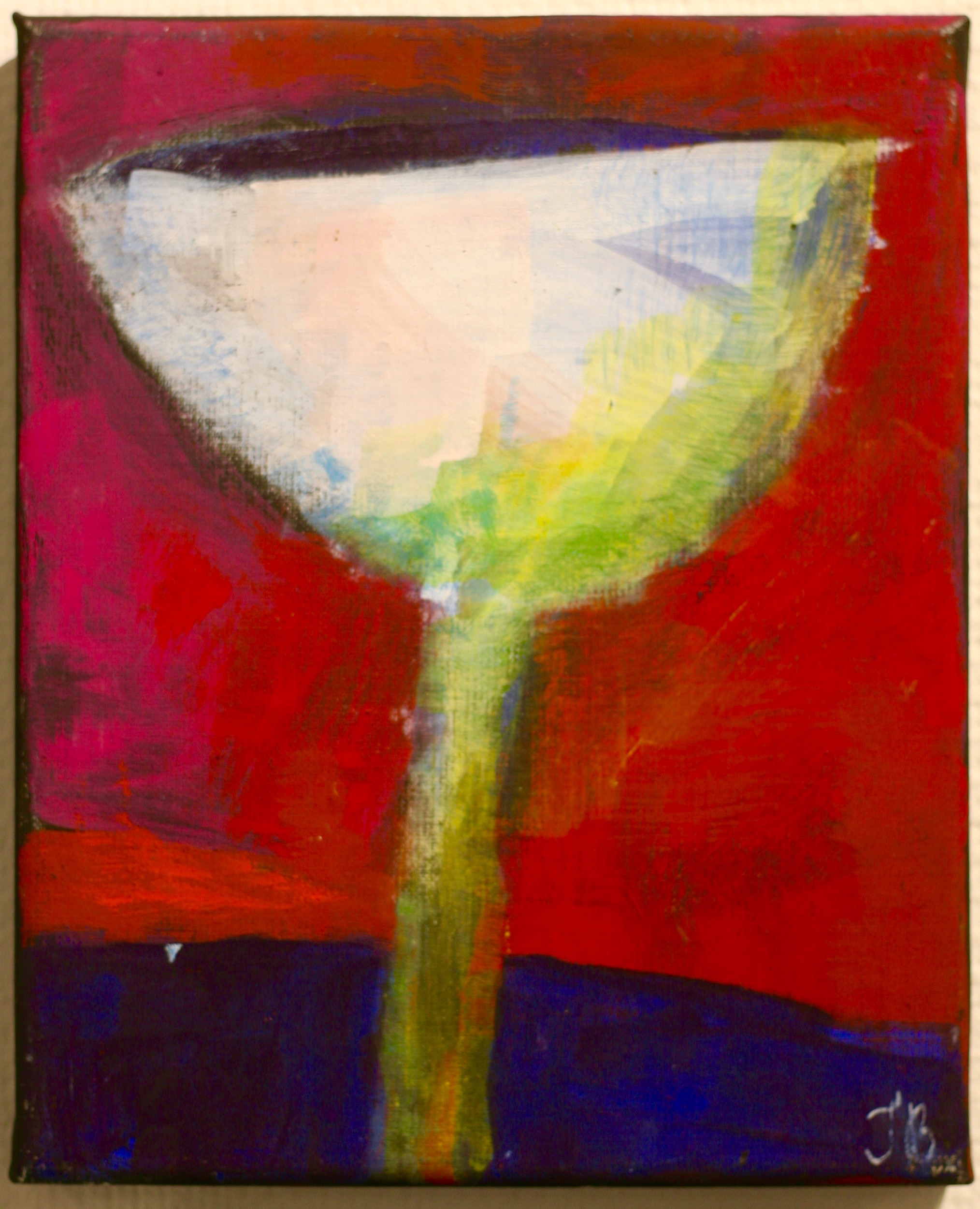 Inga Björstedt - Funnel (Tratt), oil tempera painting by