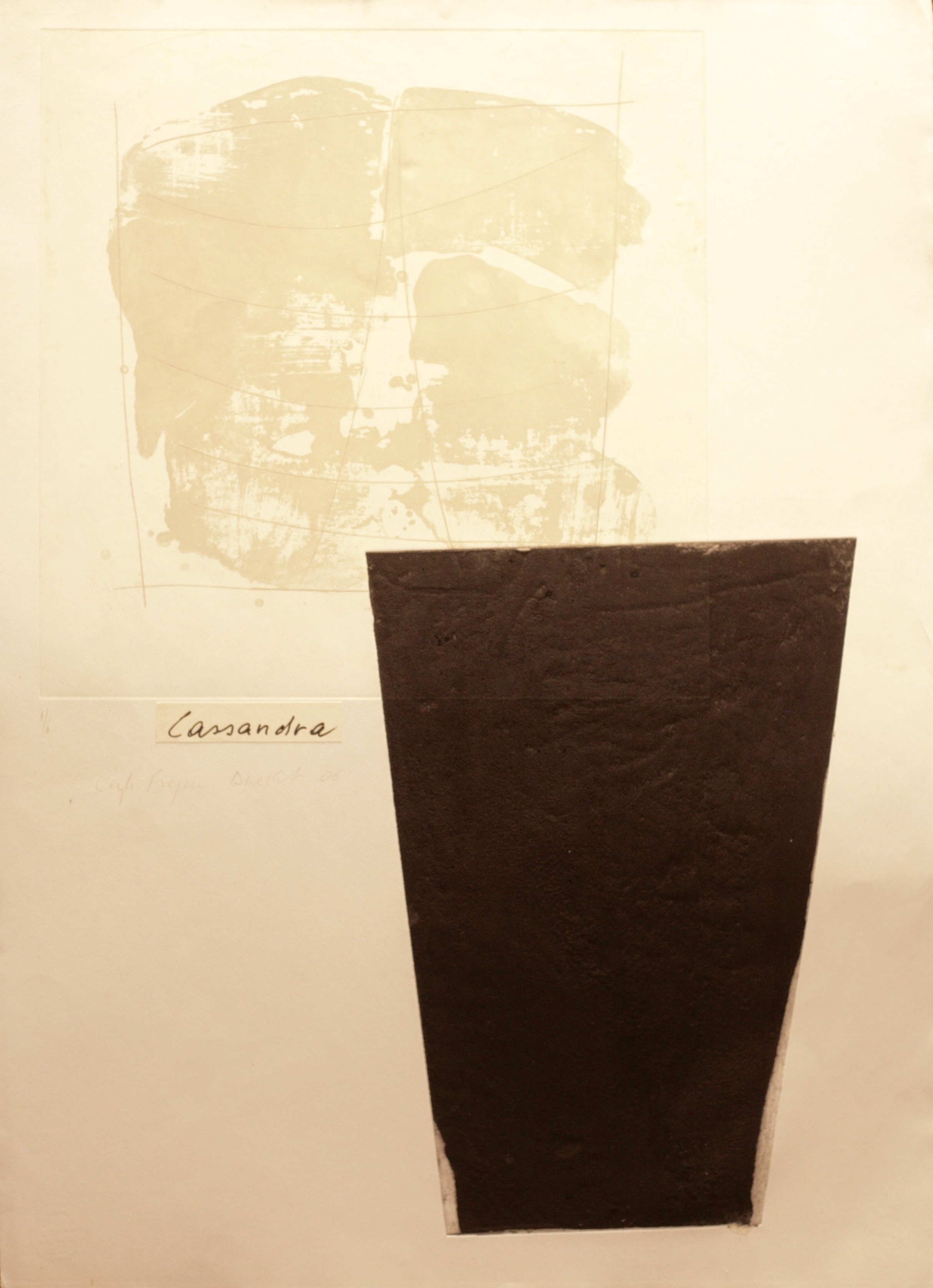 Angela Brignone Duckert - Cassandra, graphic print