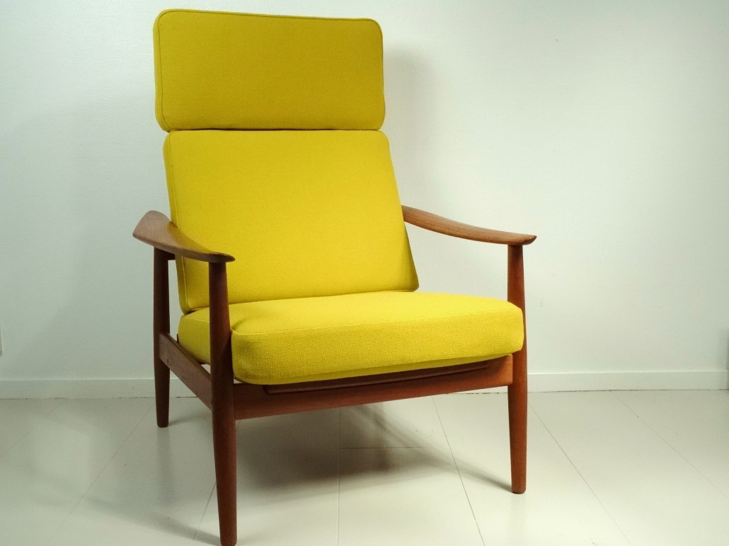 Arne Vodder - Easy chair FD 164 with ottoman