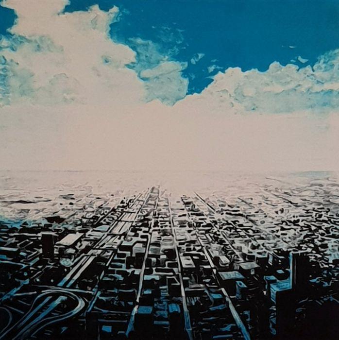 Joakim Allgulander - Blue scape, lithography