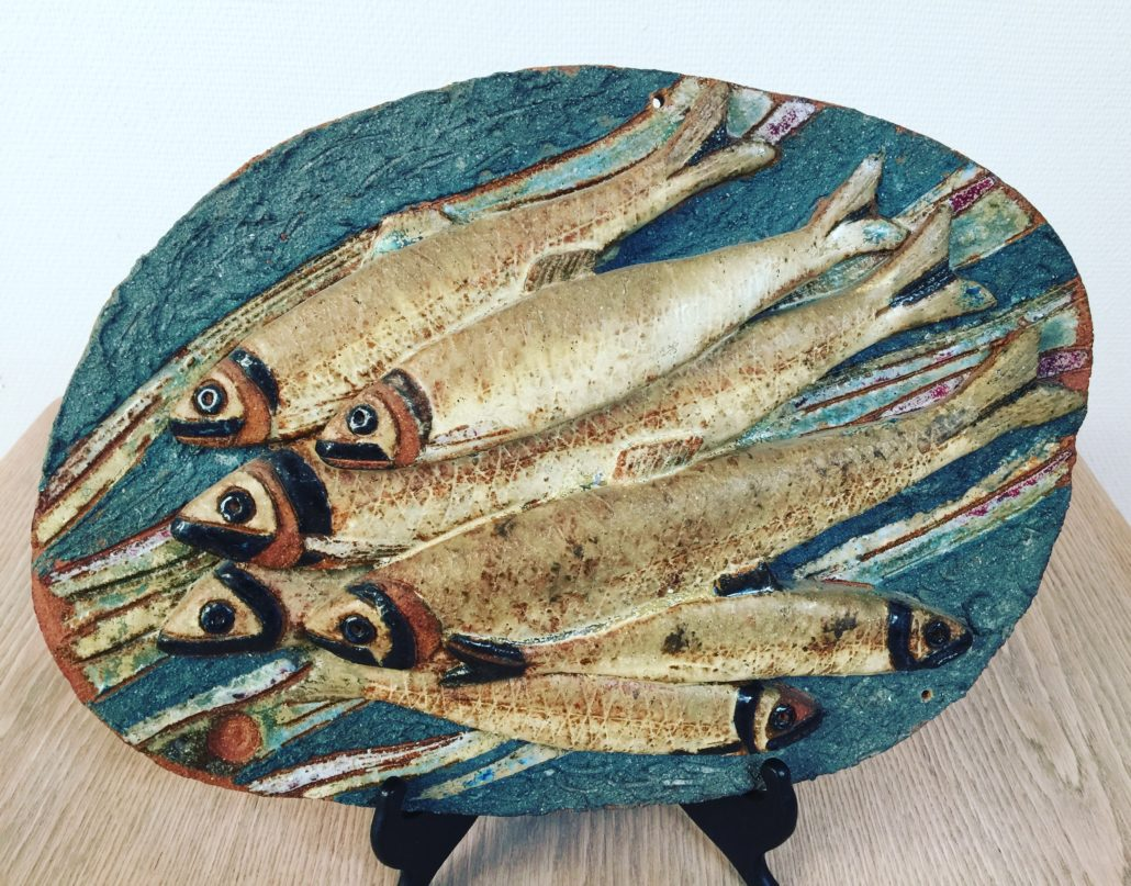 Stoneware wall relief by Tyra Lundgren