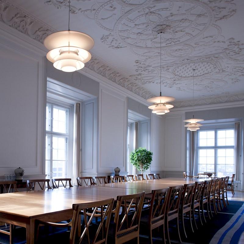 Charlottenborg pendant, 6 1/2-6, by Sophus Frandsen & Ebbe Christensen, Poul Henningsen for Louis Poulsen