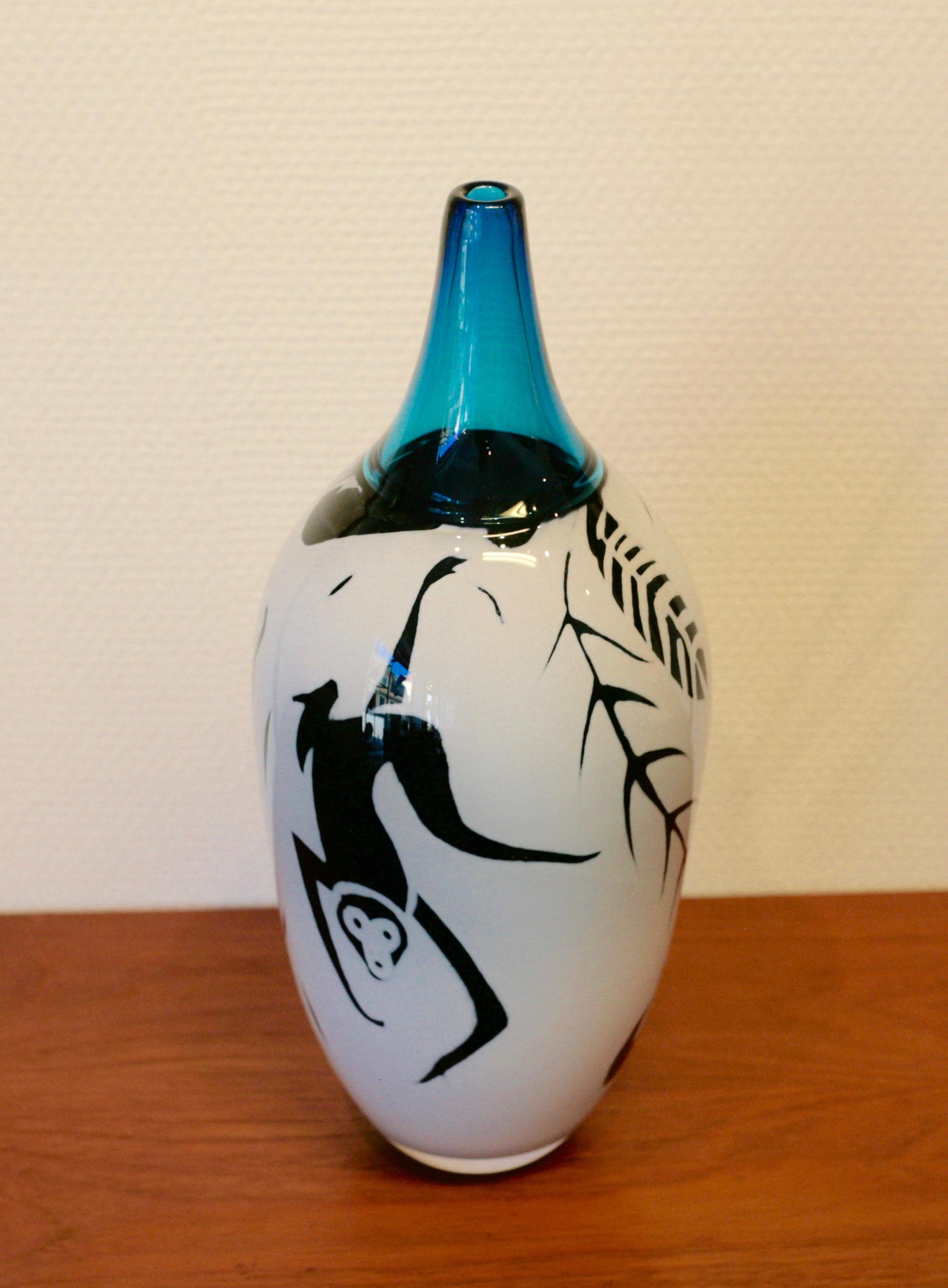 Large graal vase by Rolf Sinnemark