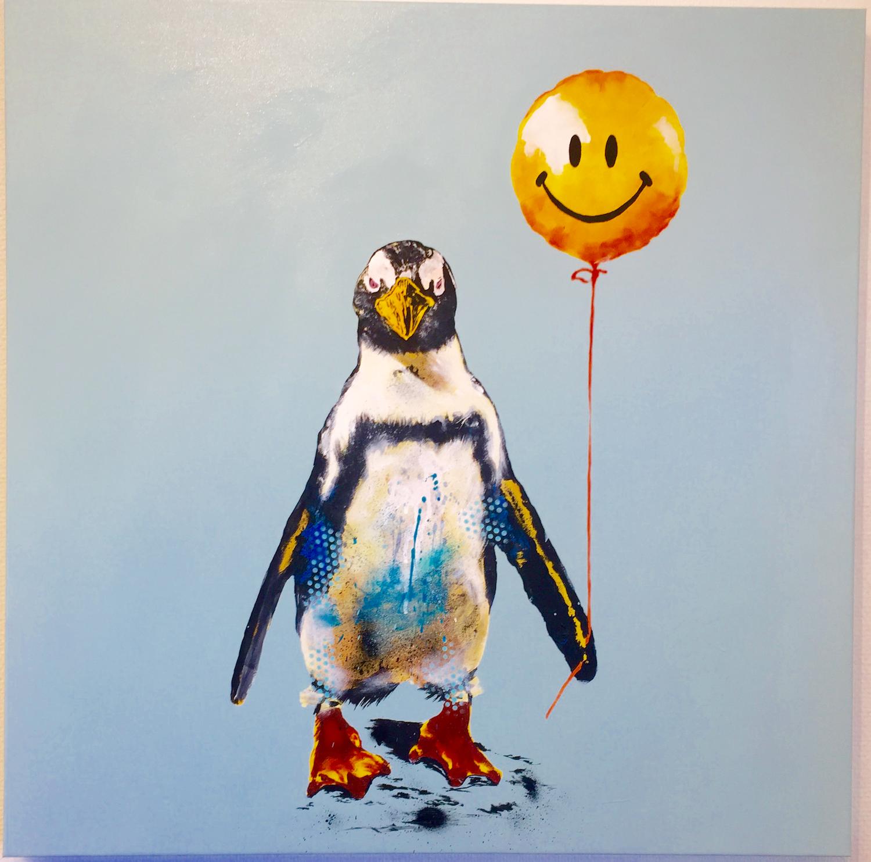 Robert Hilmersson - Don't Worry be happy, oljemålning