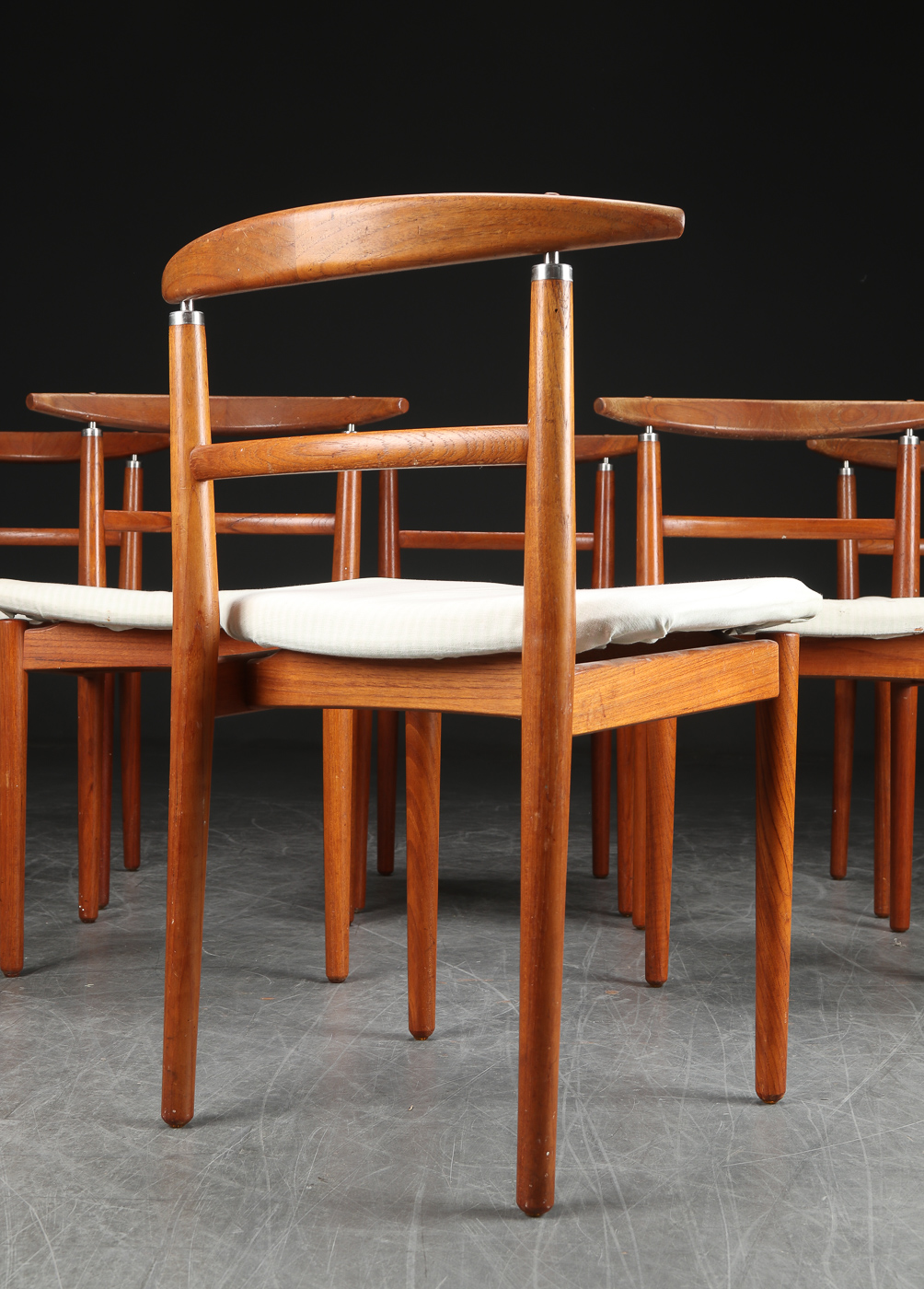 Coming in - Set of 6 teak dining chairs by Helge Sibast