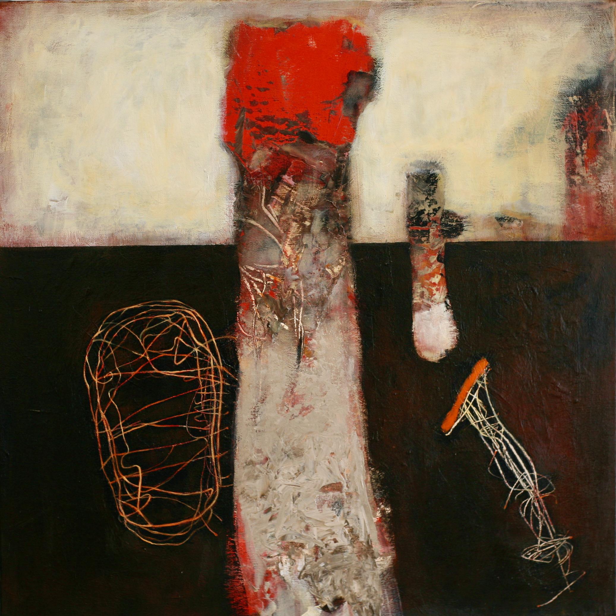 Oleg Bondarenko - The Tower and the Flower, oljemålning