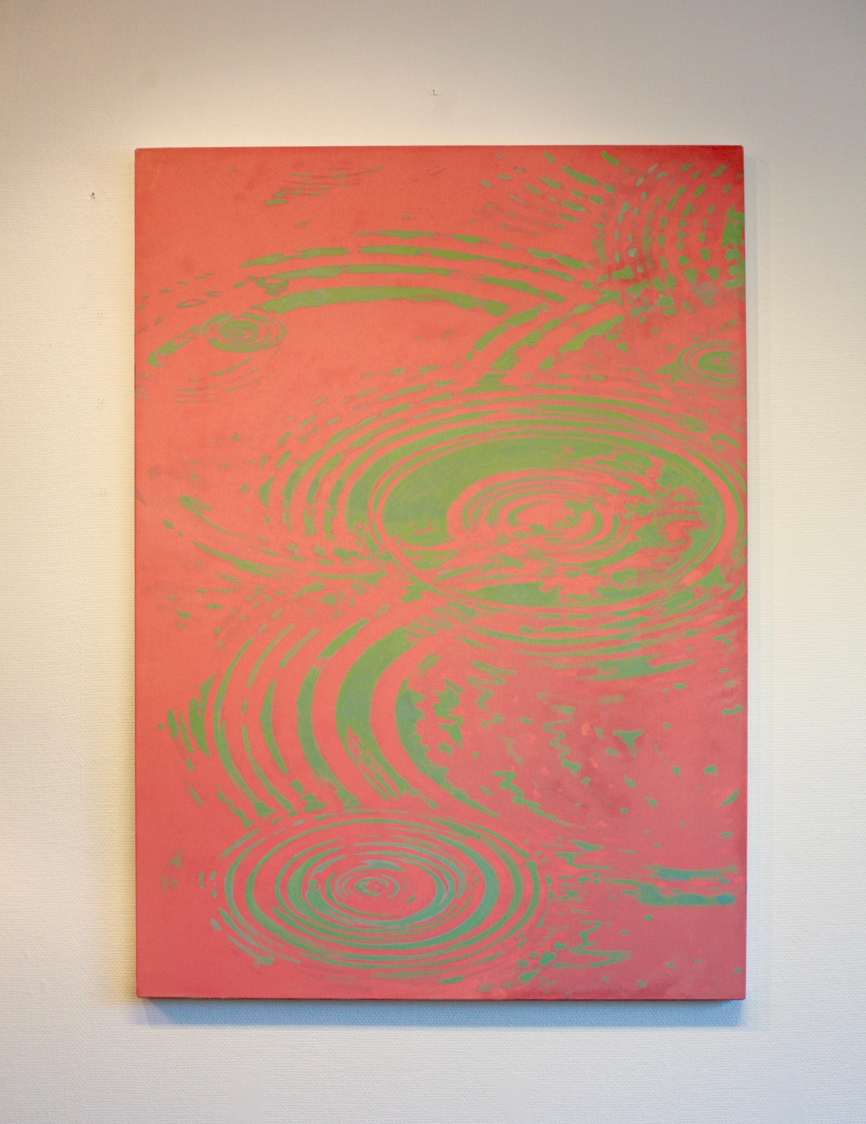 Joakim Allgulander - Cobolt swirl, acrylic on canvas