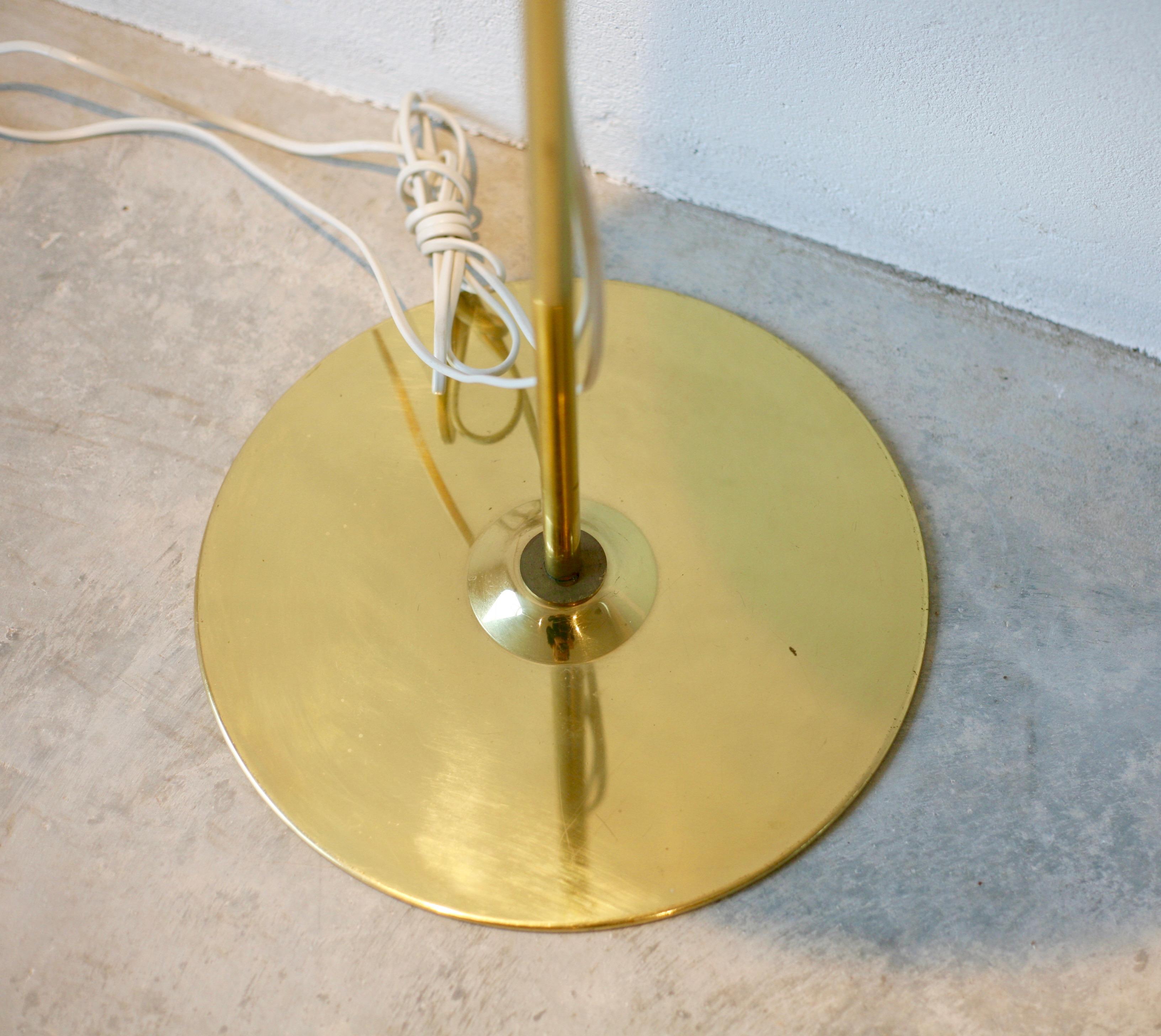 Brass floor lamp, G.185/2, by Hans-Agne Jakobsson