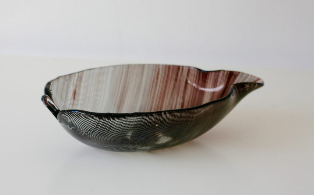 Glass bowl by Tyra Lundgren and Carlo Scarpa for Venini
