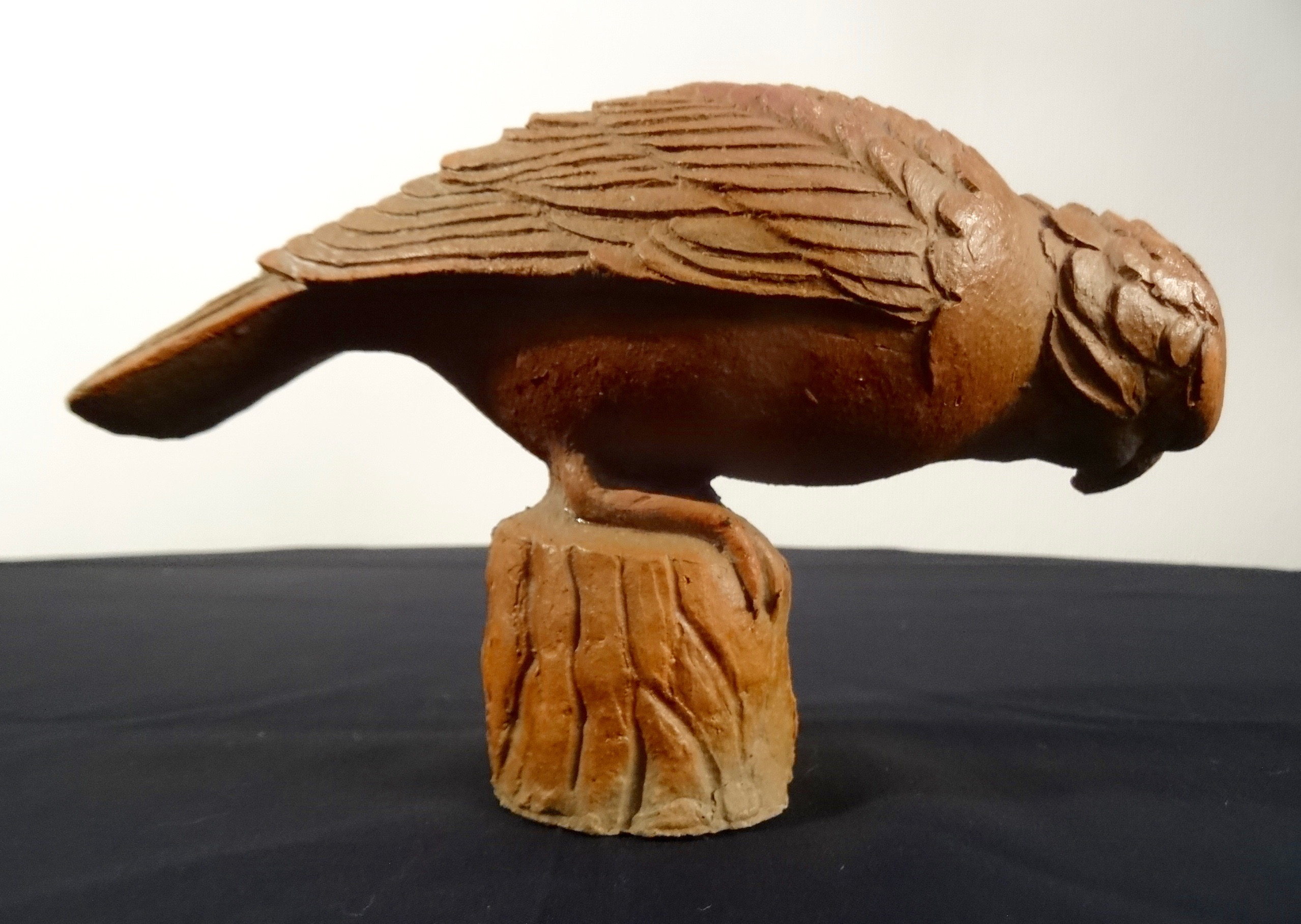 Crossbill figurine by Tyra Lundgren