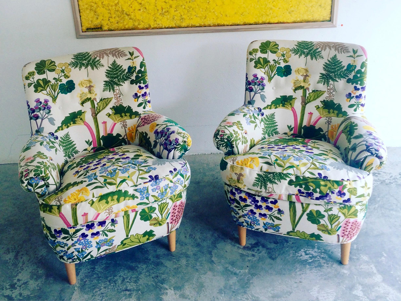 2 lounge chairs Hemmakväll Carl Malmsten