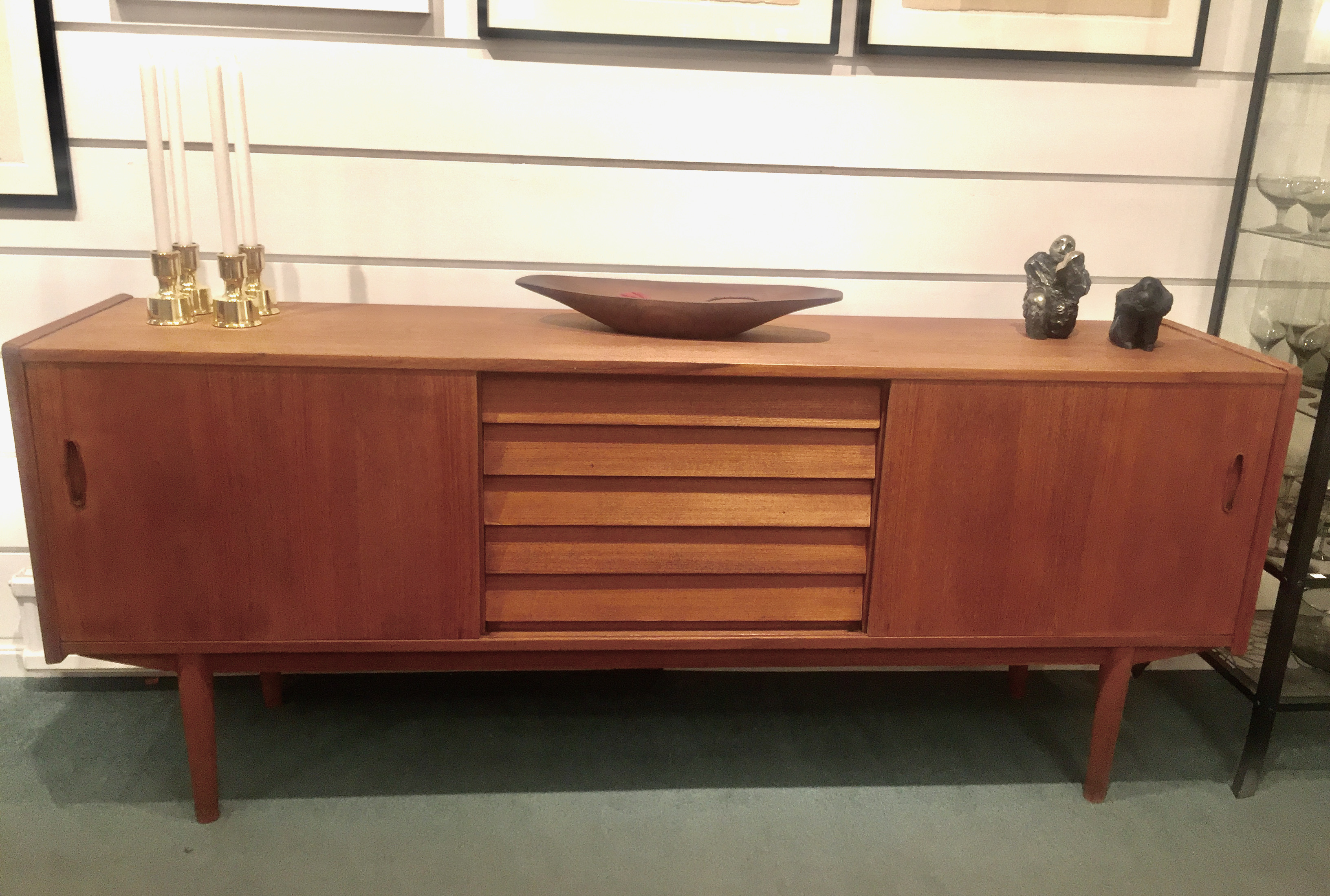 Teak sideboard, Trio, by Nils Jonsson for Troeds