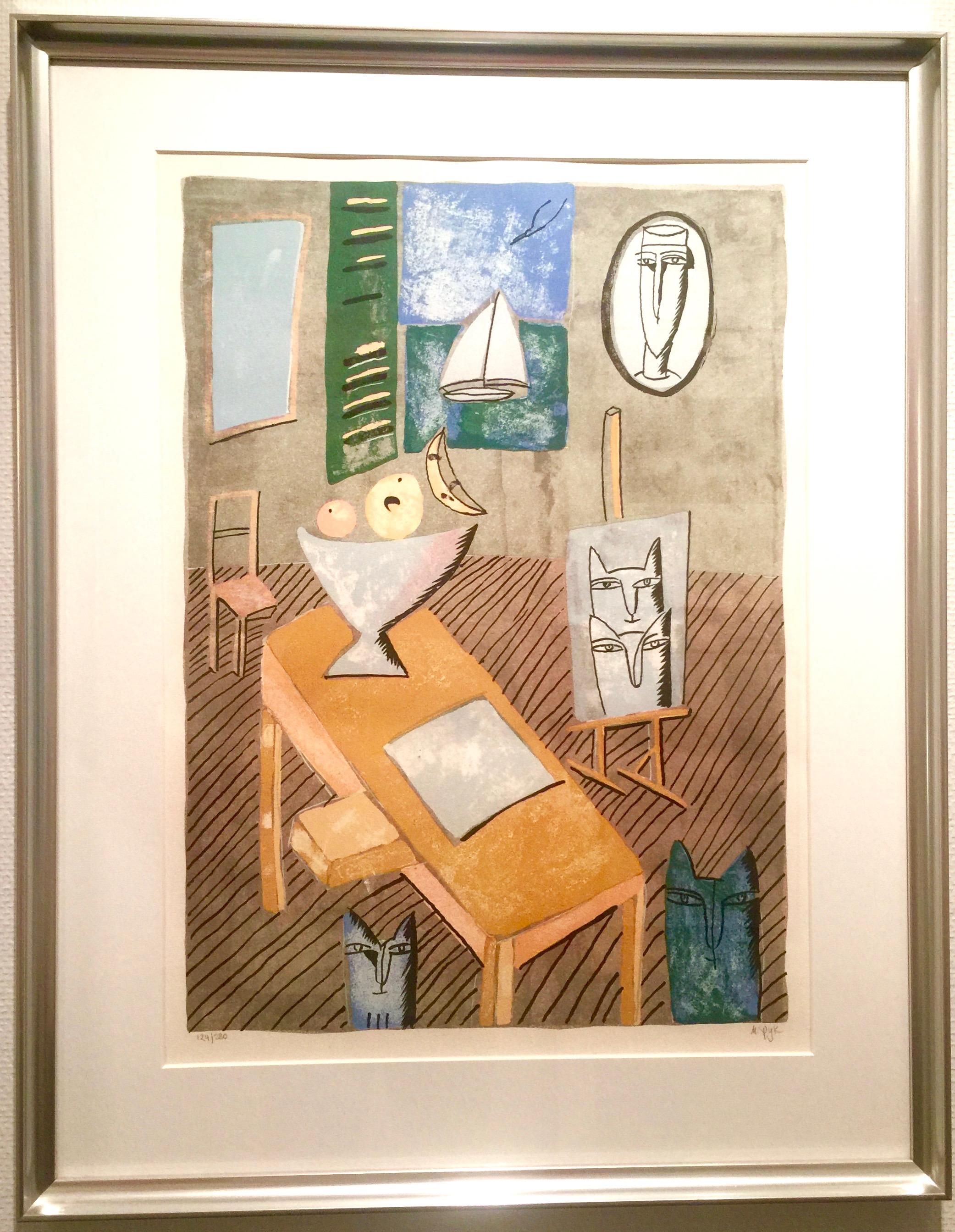 Madeleine Pyk - The fruit bowl, lithograph