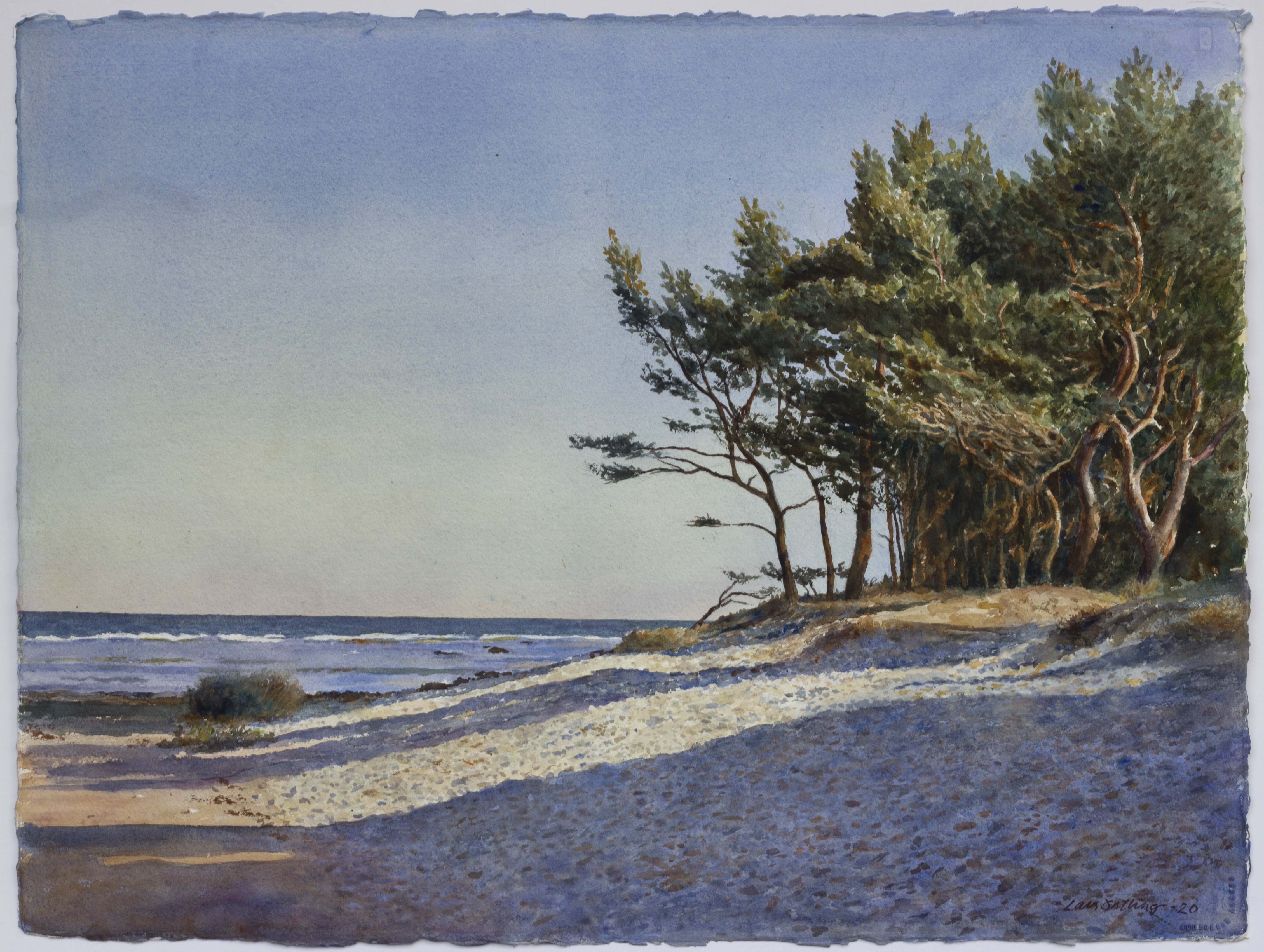Lars Östling - Strandbild Norsta Auren, gicléetryck