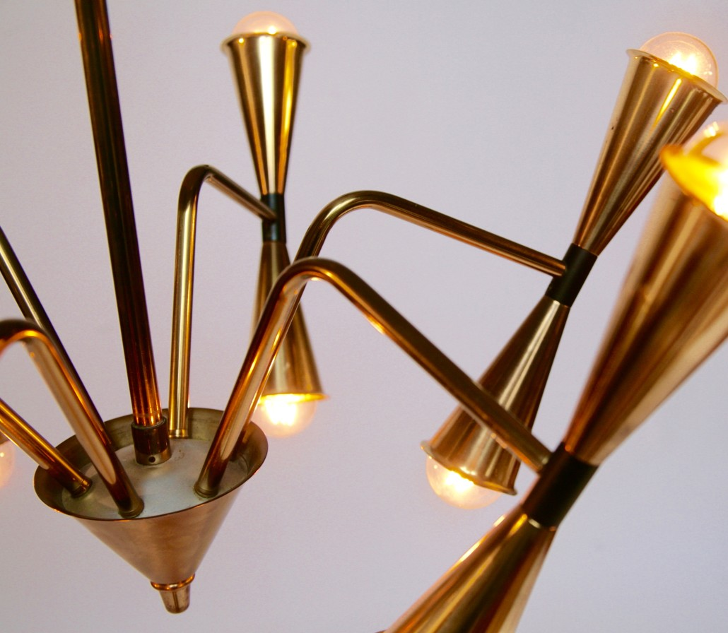 Brass ceiling lamp by Fogh & Mörup