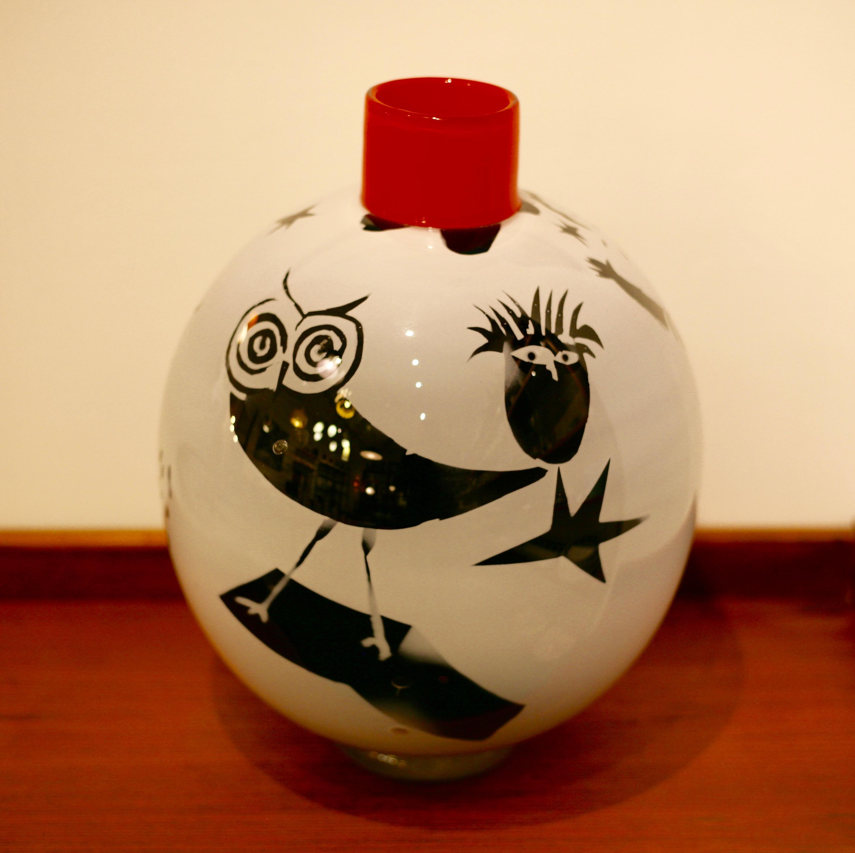 Rolf Sinnemark - The Owl, Graal vase