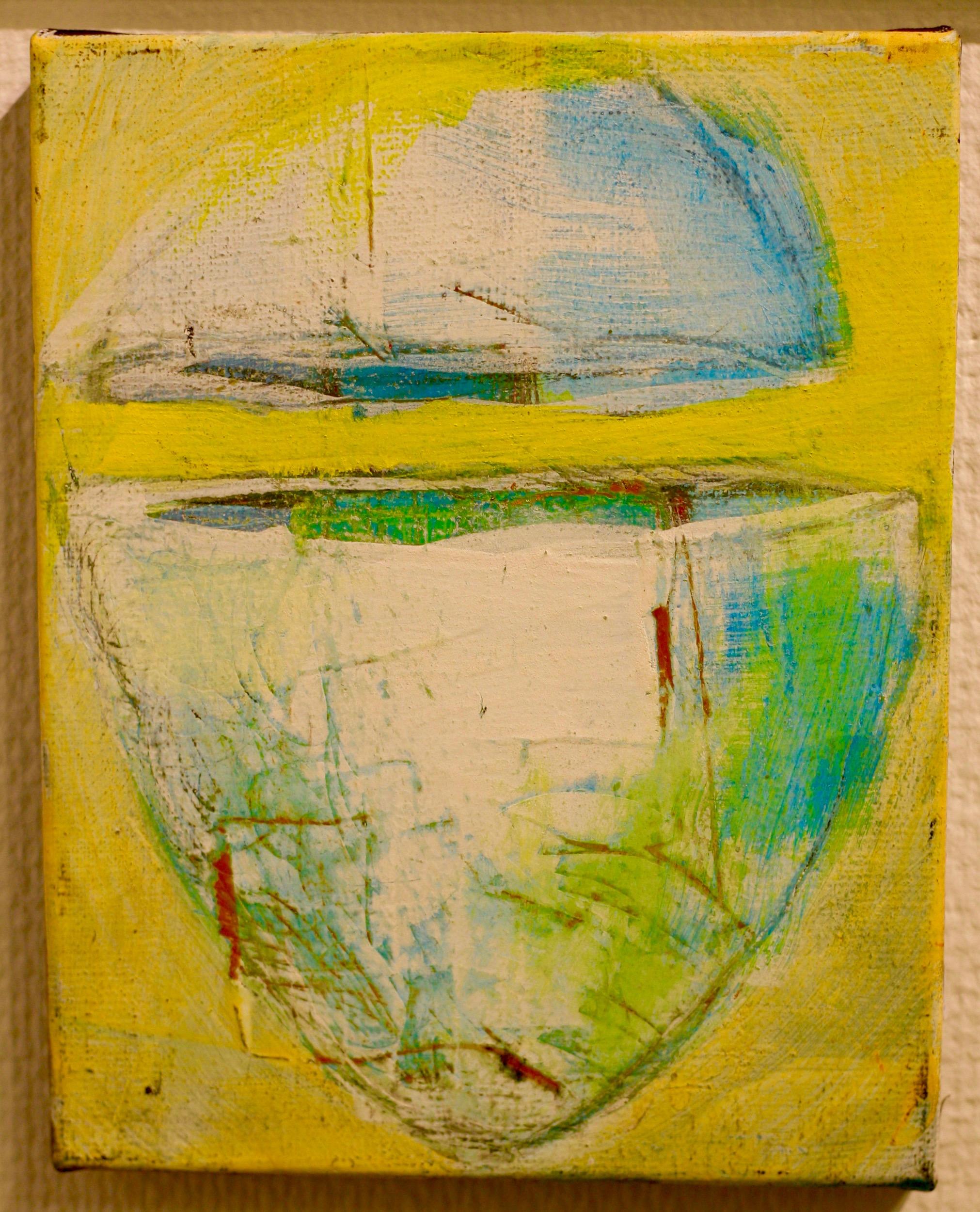 Inga Björstedt - The Egg (Ägget) - oil tempera painting