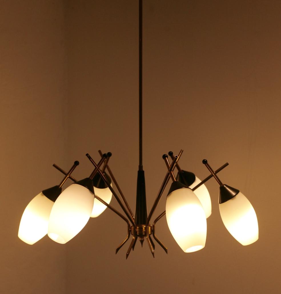 Stilnovo chandelier Italy 1960´s