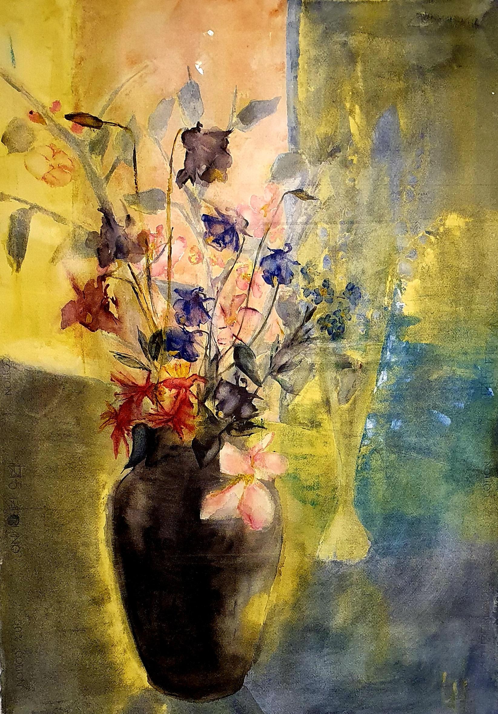 Lena Hoel - Försommar, akvarell