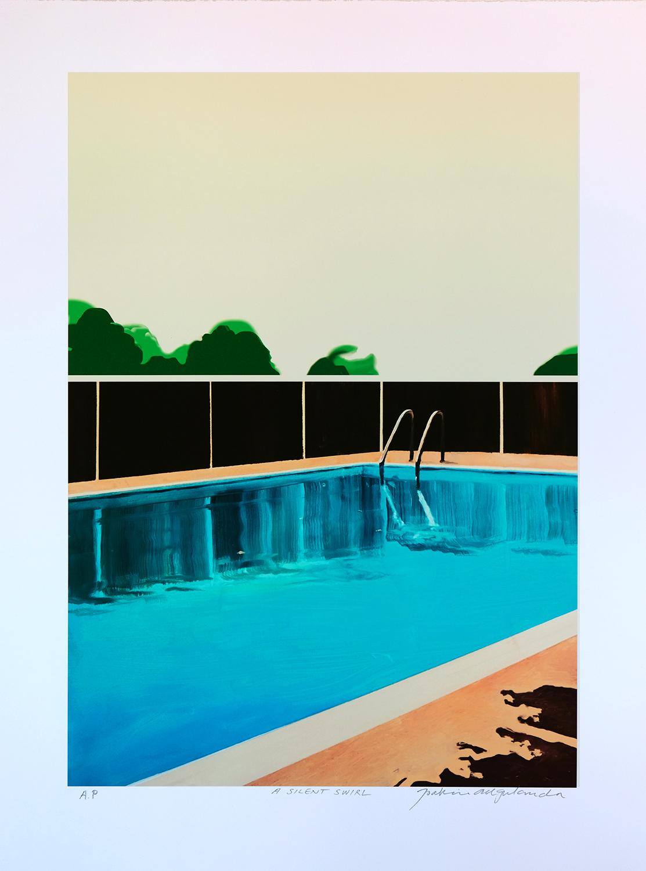 Joakim Allgulander - A silent swirl, lithograph